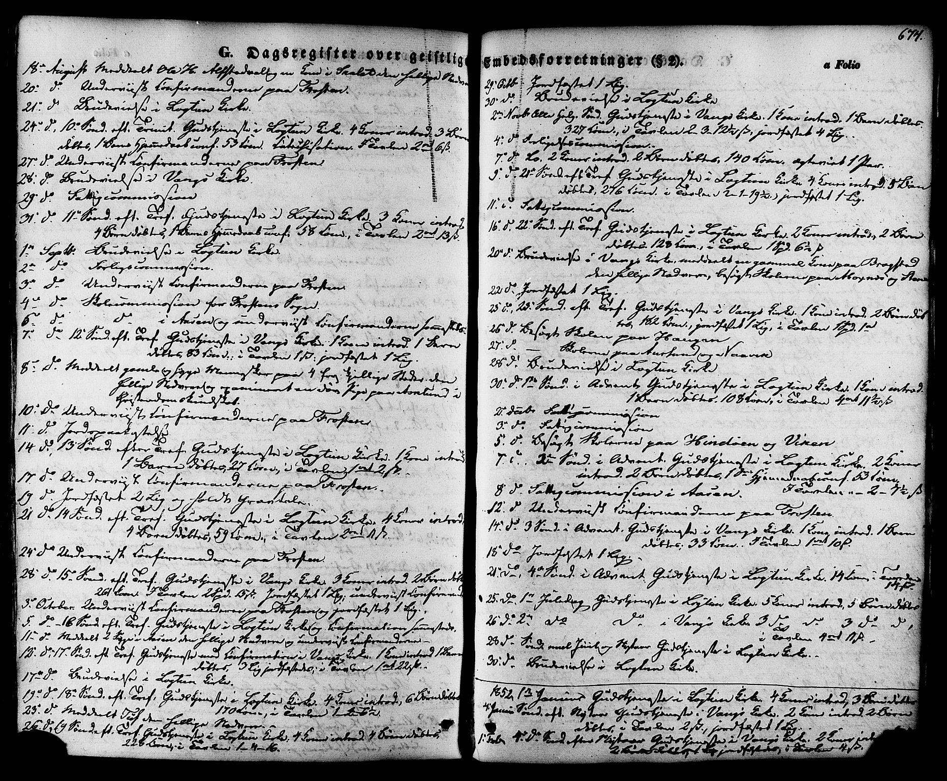 SAT, Ministerialprotokoller, klokkerbøker og fødselsregistre - Nord-Trøndelag, 713/L0116: Ministerialbok nr. 713A07 /1, 1850-1877, s. 674