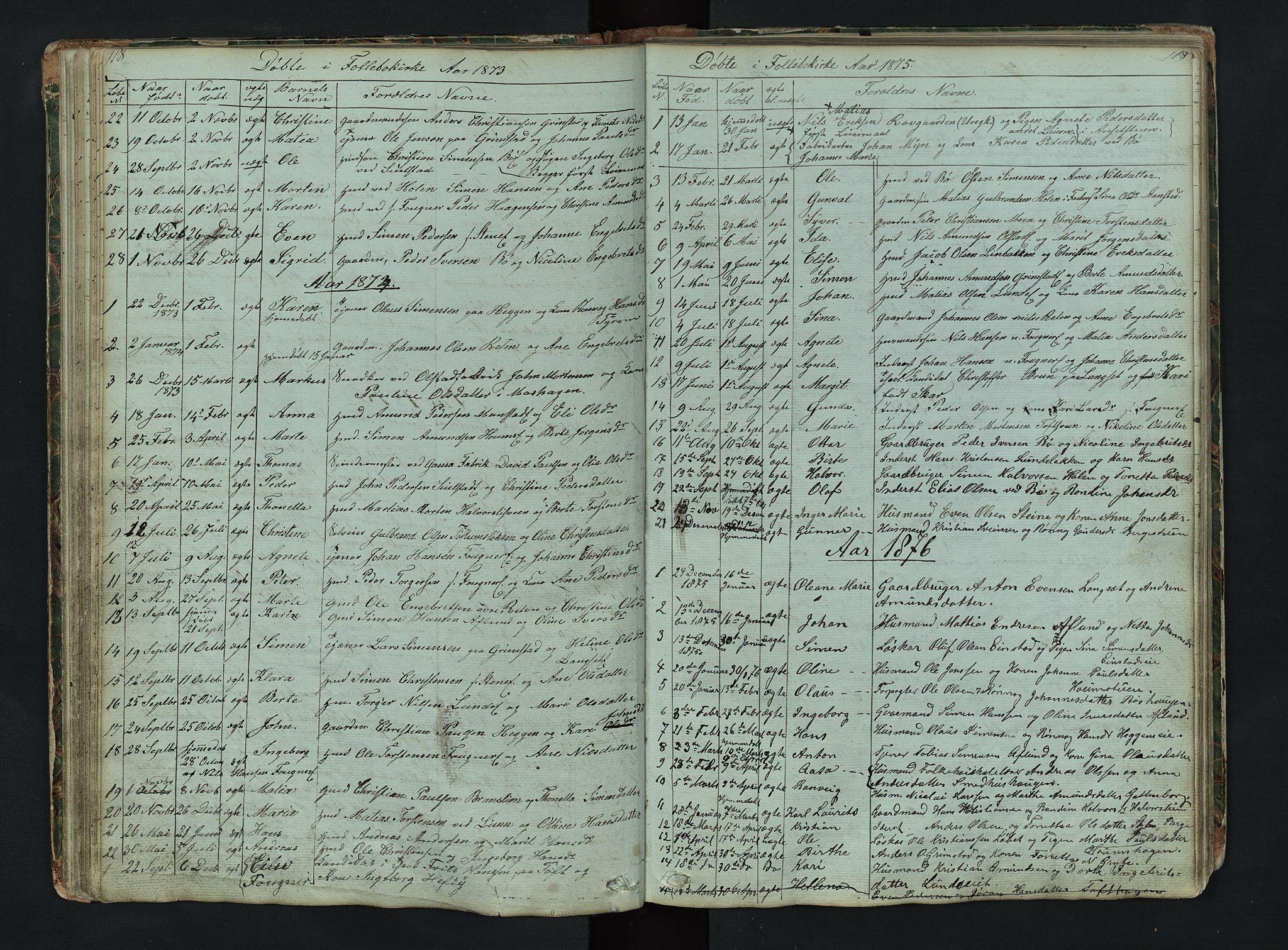 SAH, Gausdal prestekontor, Klokkerbok nr. 6, 1846-1893, s. 118-119