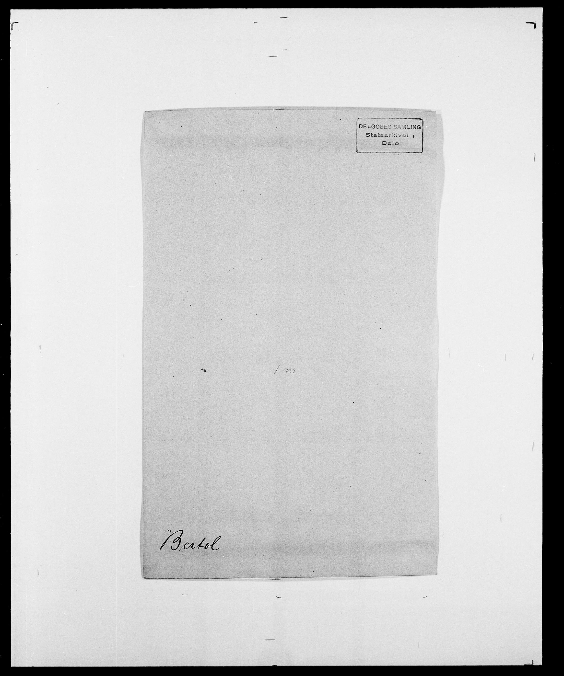 SAO, Delgobe, Charles Antoine - samling, D/Da/L0004: Bergendahl - Blære, s. 126