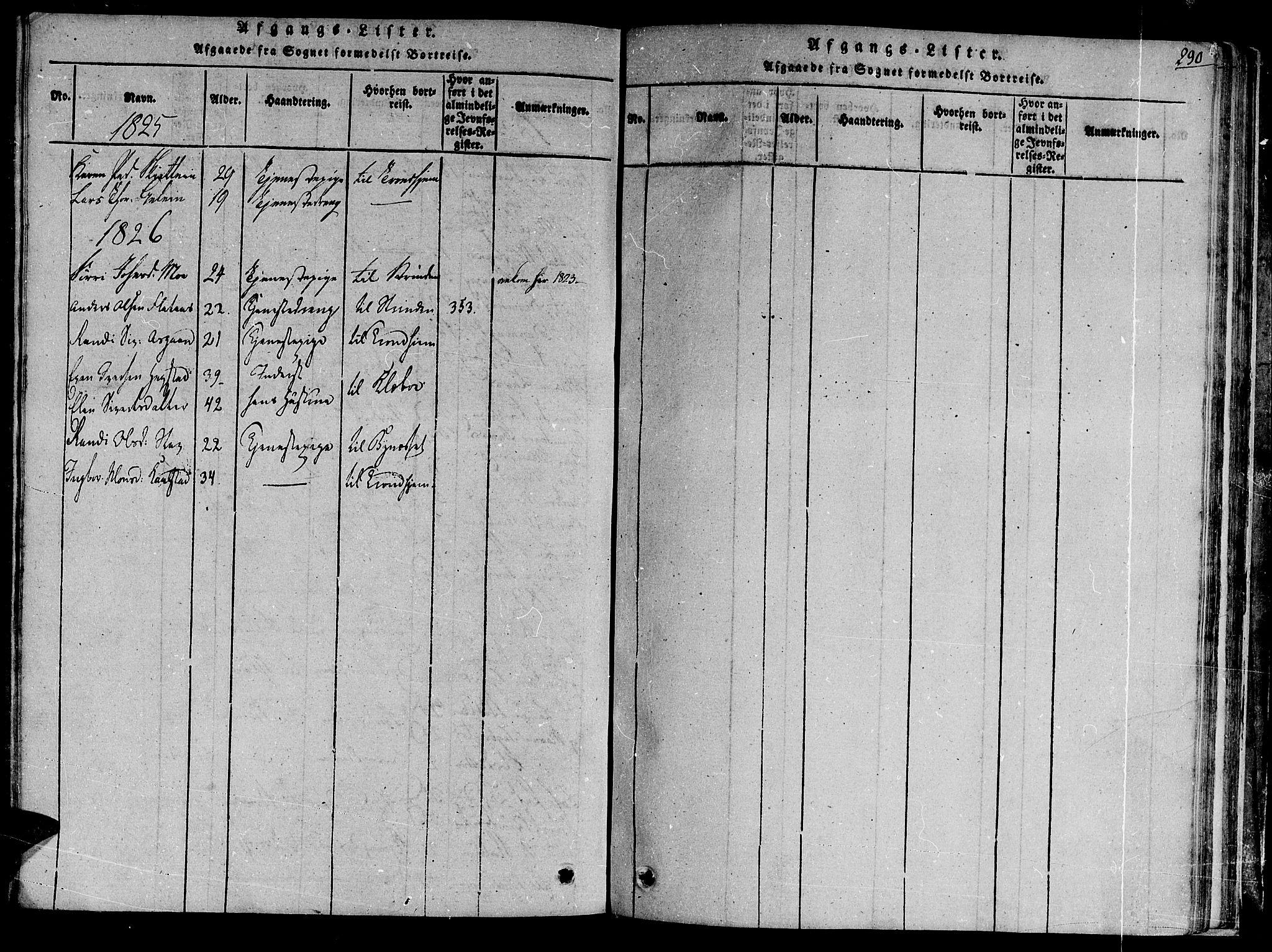 SAT, Ministerialprotokoller, klokkerbøker og fødselsregistre - Sør-Trøndelag, 691/L1067: Ministerialbok nr. 691A03 /3, 1816-1826, s. 290