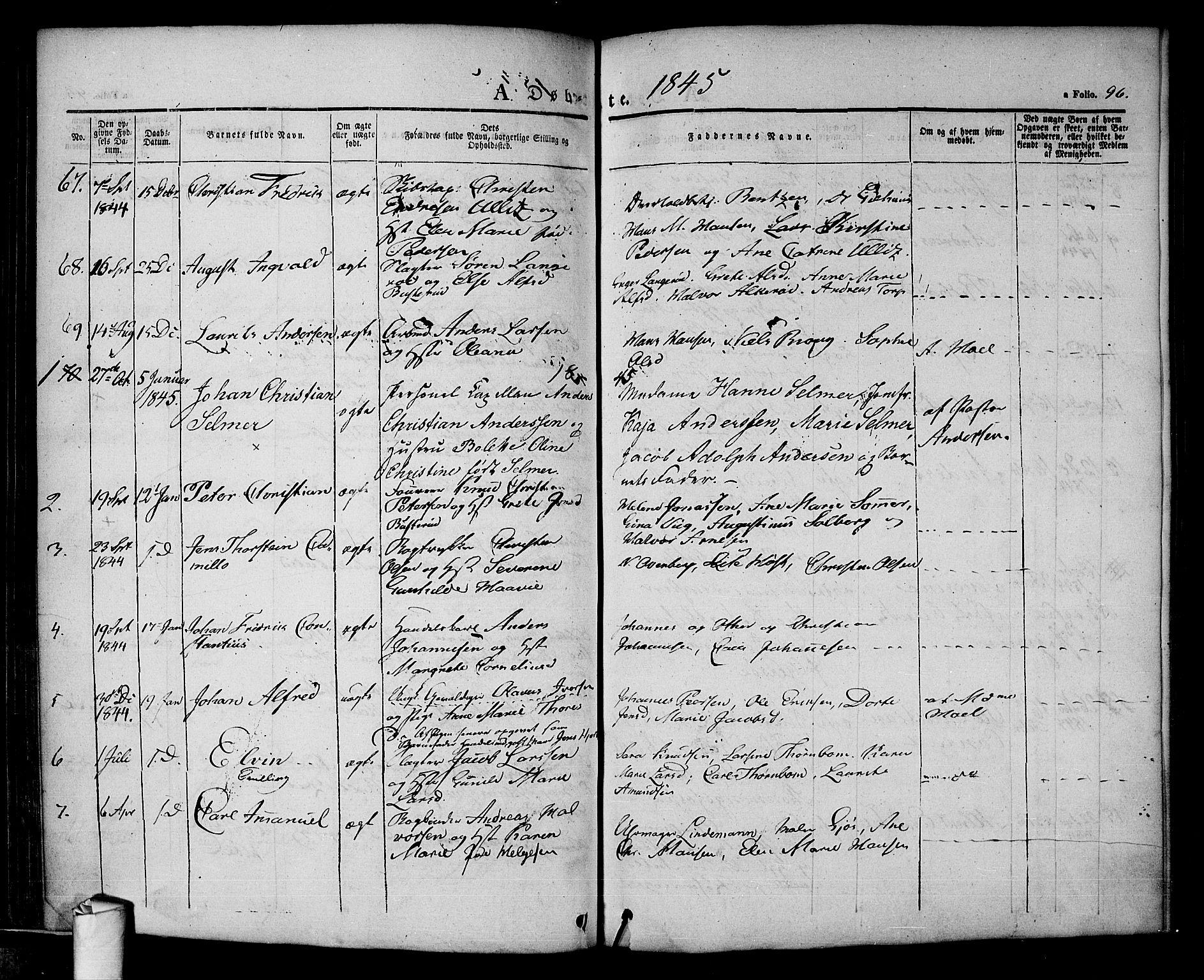 SAO, Halden prestekontor Kirkebøker, F/Fa/L0005: Ministerialbok nr. I 5, 1834-1845, s. 96