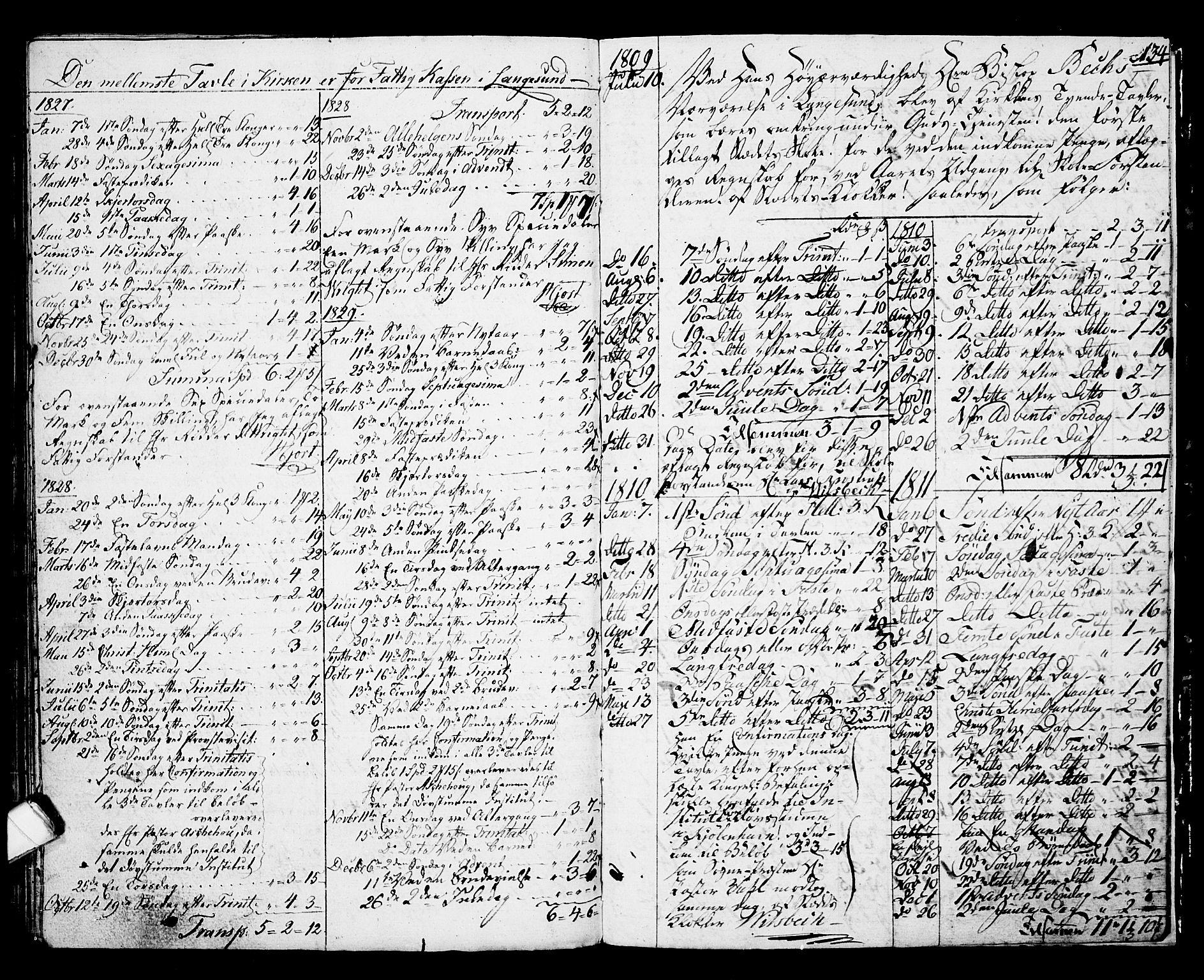SAKO, Langesund kirkebøker, G/Ga/L0002: Klokkerbok nr. 2, 1801-1815, s. 134