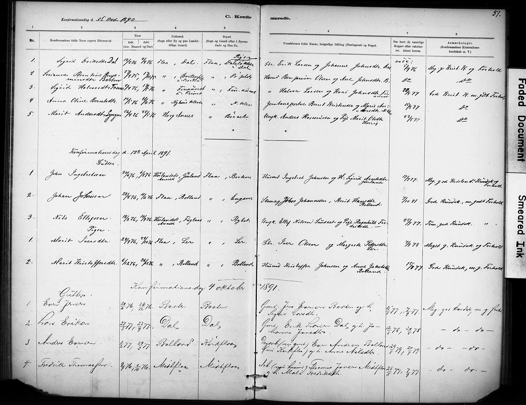 SAT, Ministerialprotokoller, klokkerbøker og fødselsregistre - Sør-Trøndelag, 693/L1119: Ministerialbok nr. 693A01, 1887-1905, s. 51