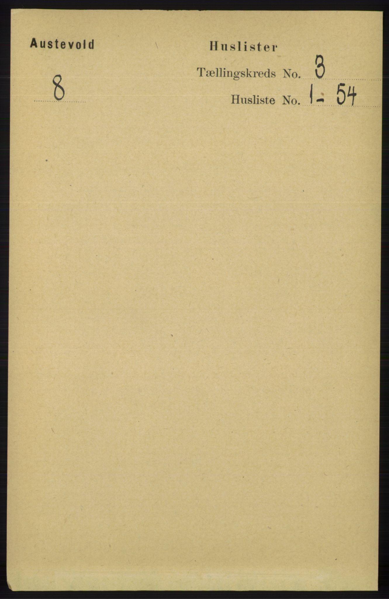RA, Folketelling 1891 for 1244 Austevoll herred, 1891, s. 897