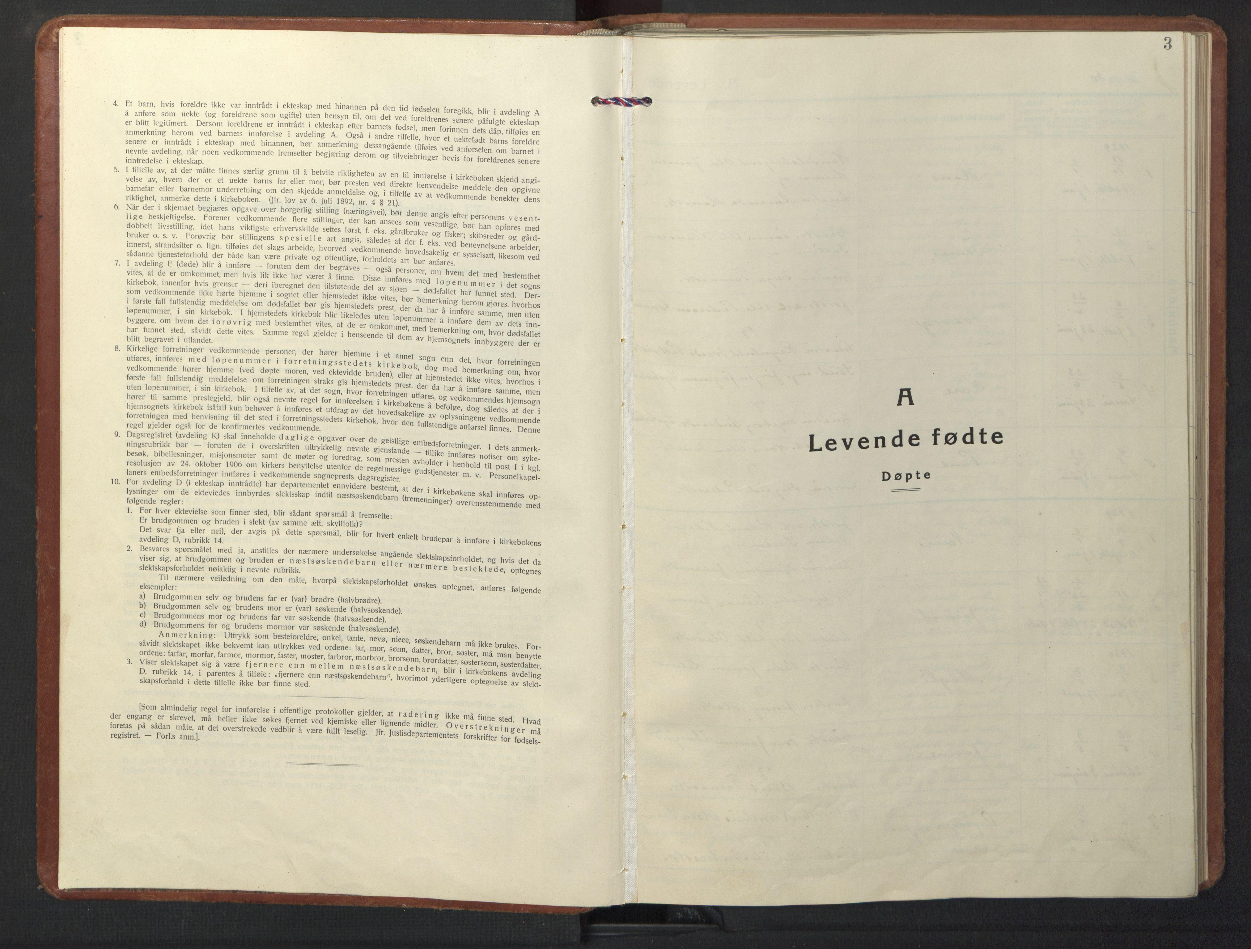 SAT, Ministerialprotokoller, klokkerbøker og fødselsregistre - Sør-Trøndelag, 698/L1169: Klokkerbok nr. 698C06, 1930-1949, s. 3