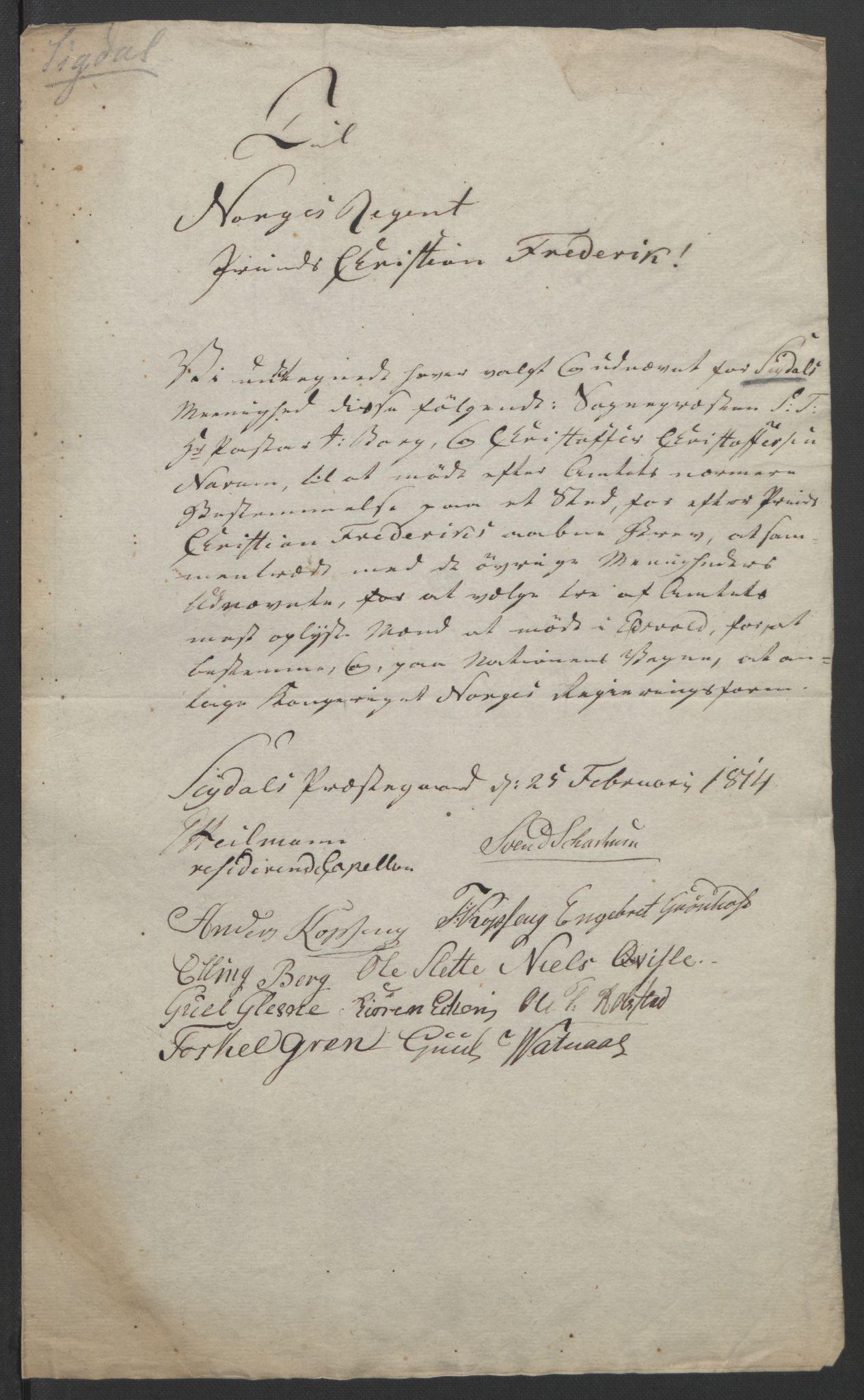 RA, Statsrådssekretariatet, D/Db/L0007: Fullmakter for Eidsvollsrepresentantene i 1814. , 1814, s. 342