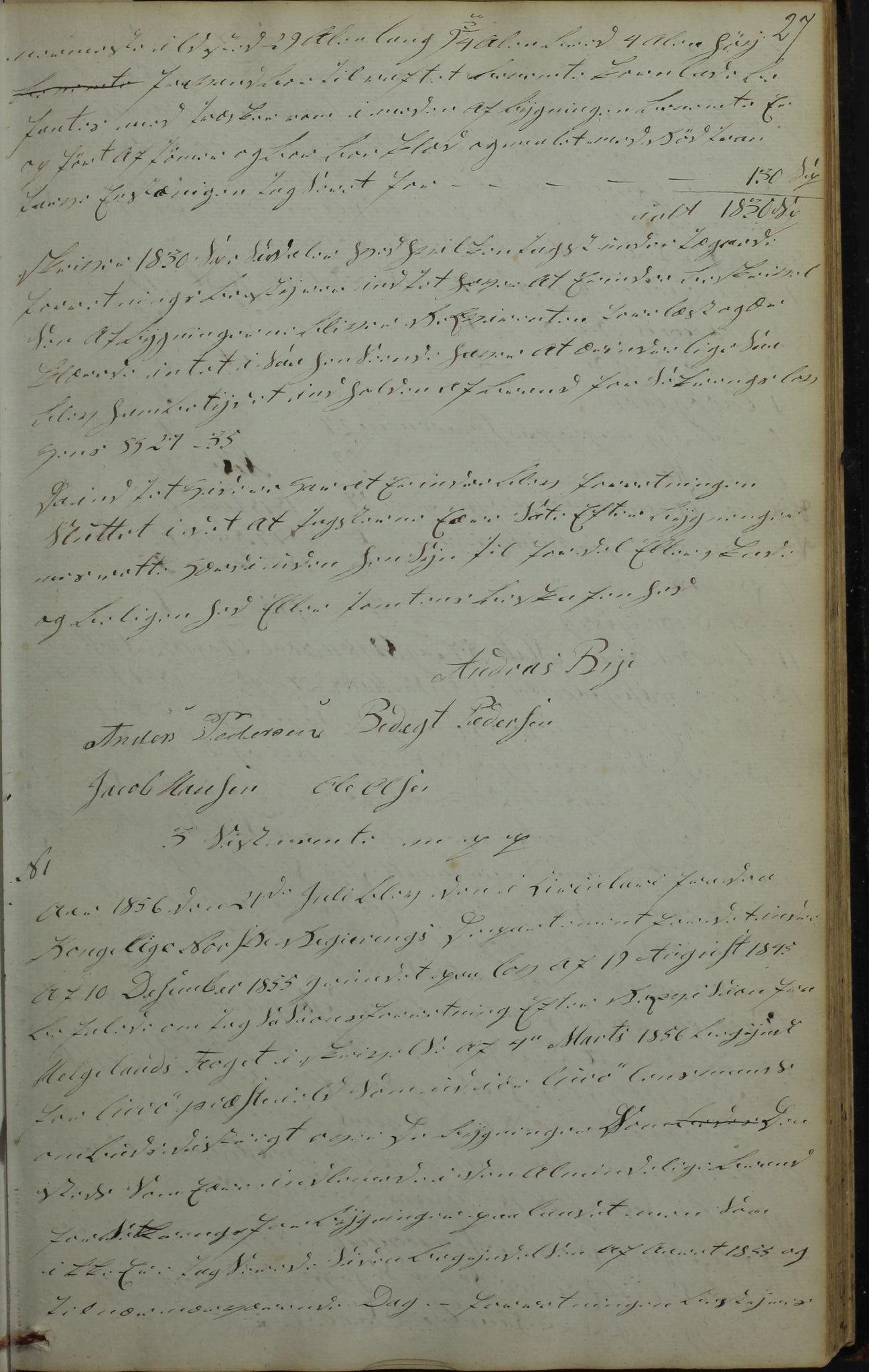 AIN, Lurøy kommune. Formannskapet, 100/L0001: Møtebok, 1836-1898, s. 27
