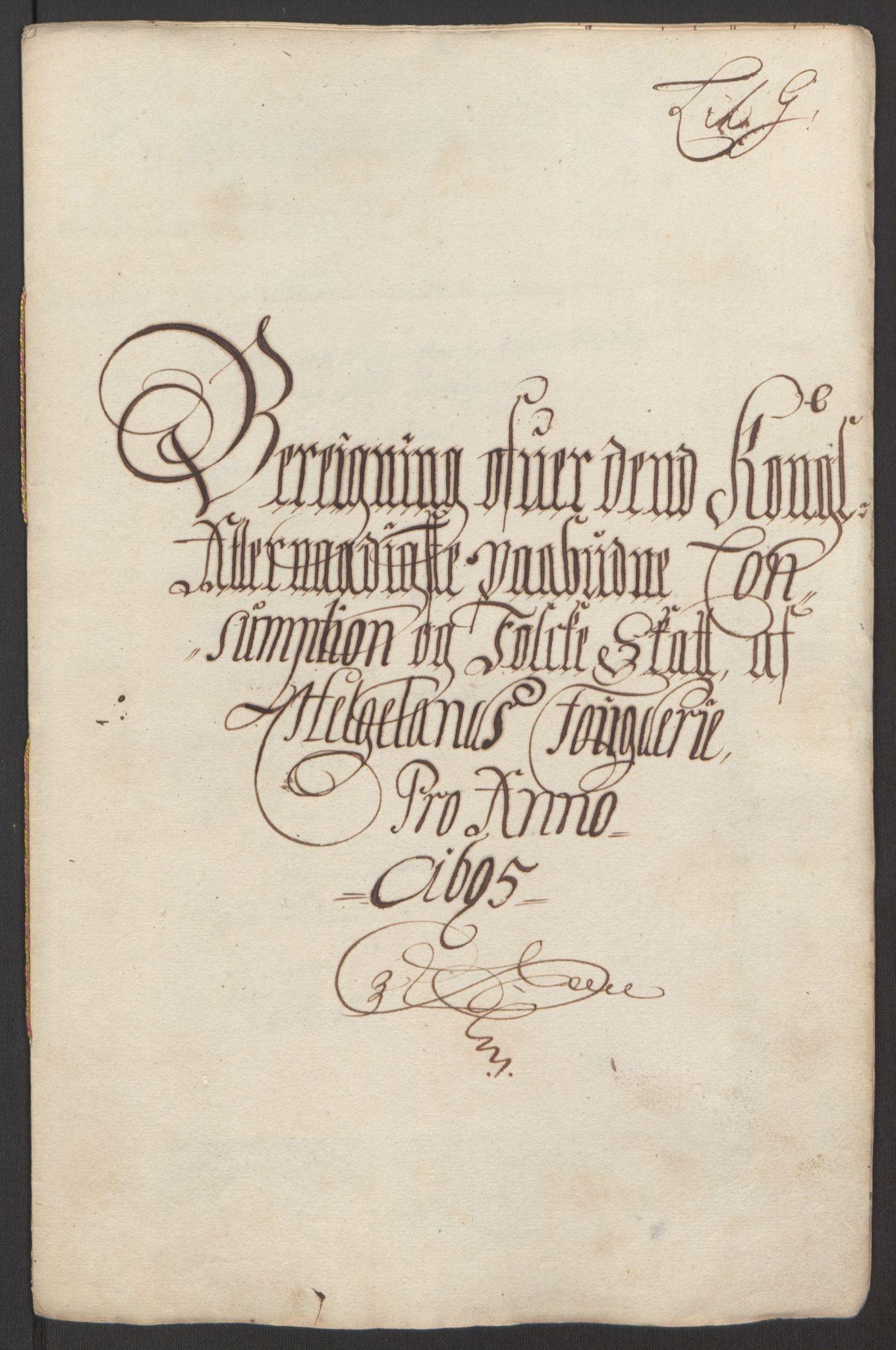RA, Rentekammeret inntil 1814, Reviderte regnskaper, Fogderegnskap, R65/L4505: Fogderegnskap Helgeland, 1693-1696, s. 384