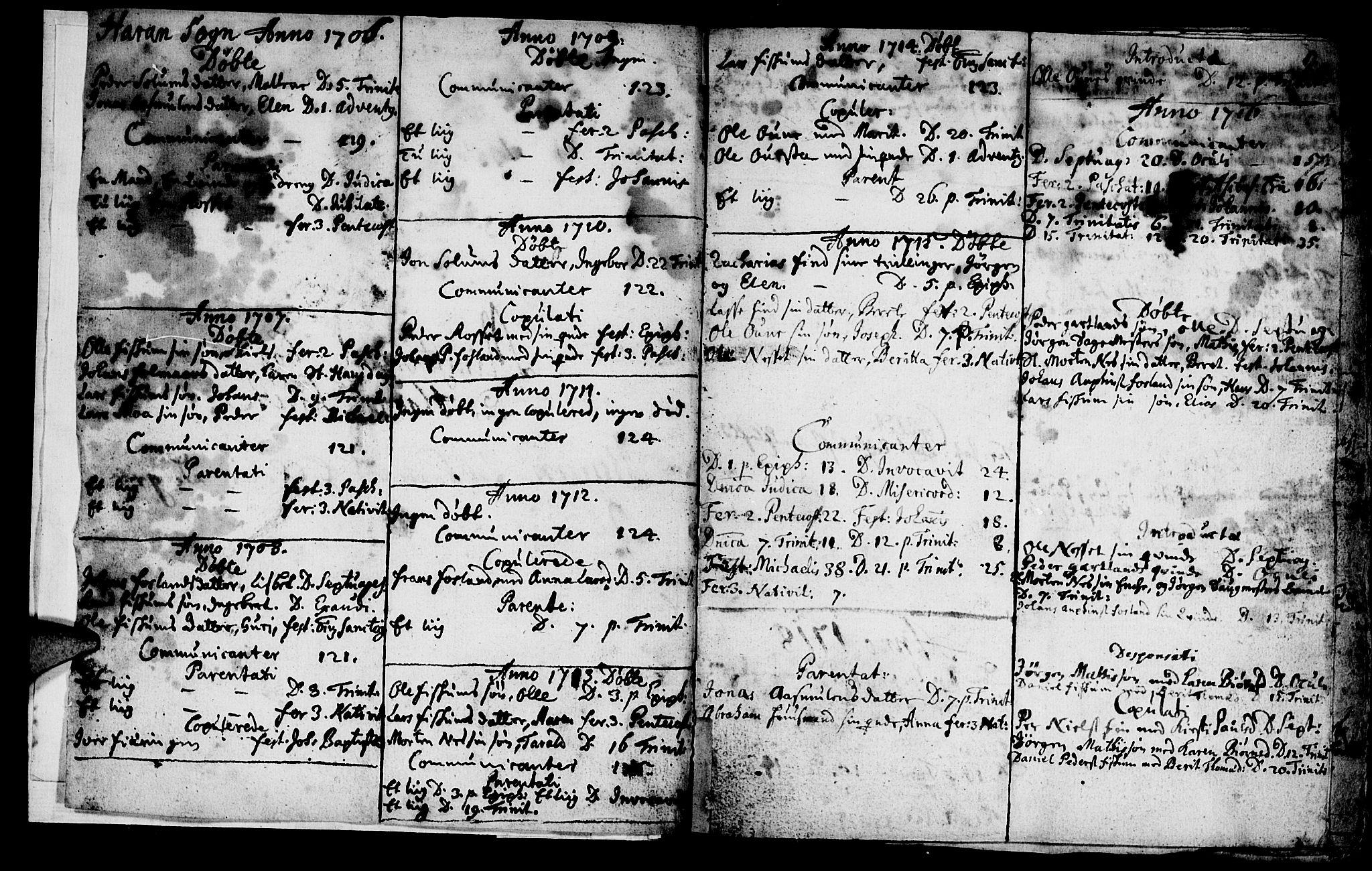 SAT, Ministerialprotokoller, klokkerbøker og fødselsregistre - Nord-Trøndelag, 759/L0525: Ministerialbok nr. 759A01, 1706-1748, s. 2