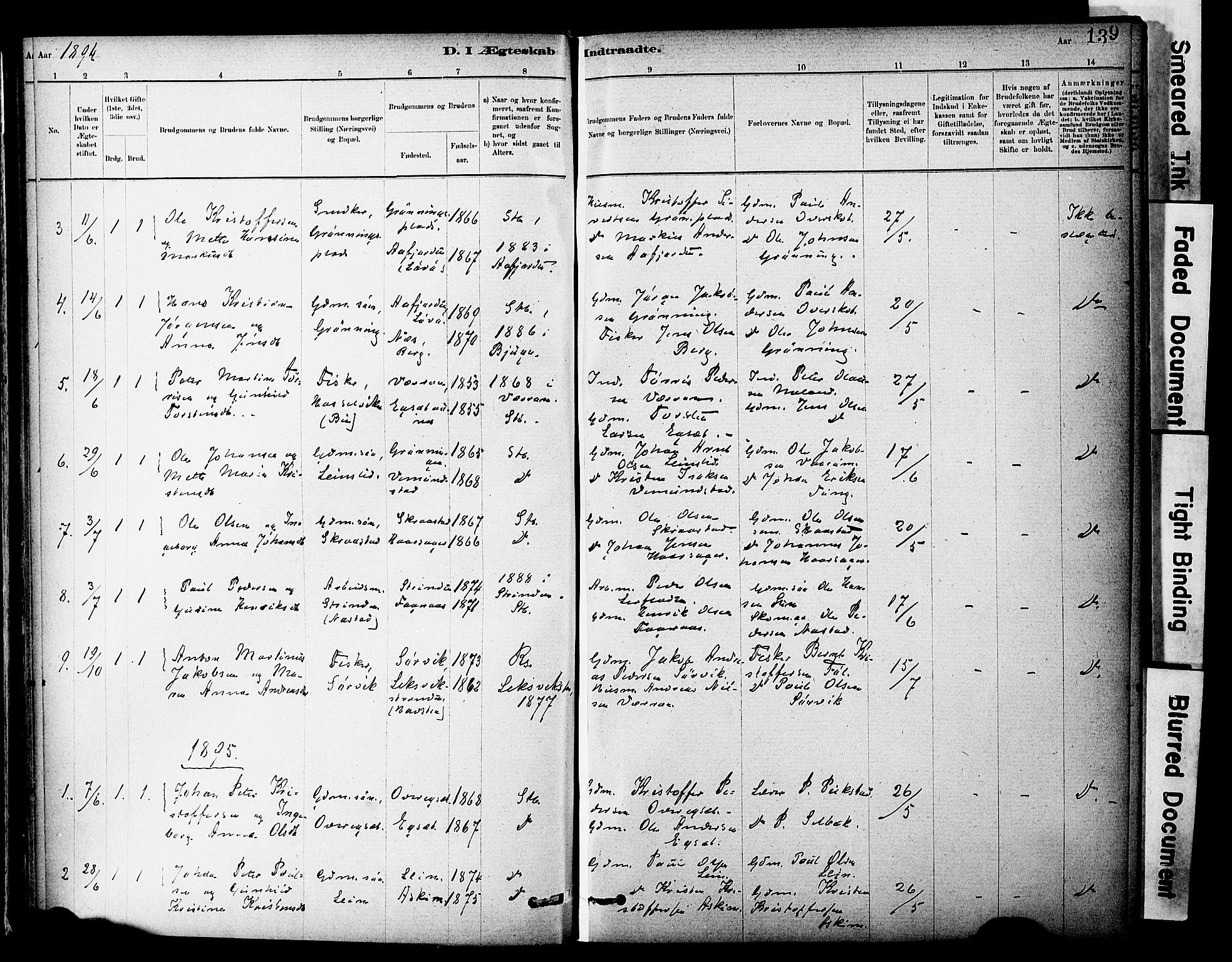 SAT, Ministerialprotokoller, klokkerbøker og fødselsregistre - Sør-Trøndelag, 646/L0615: Ministerialbok nr. 646A13, 1885-1900, s. 139
