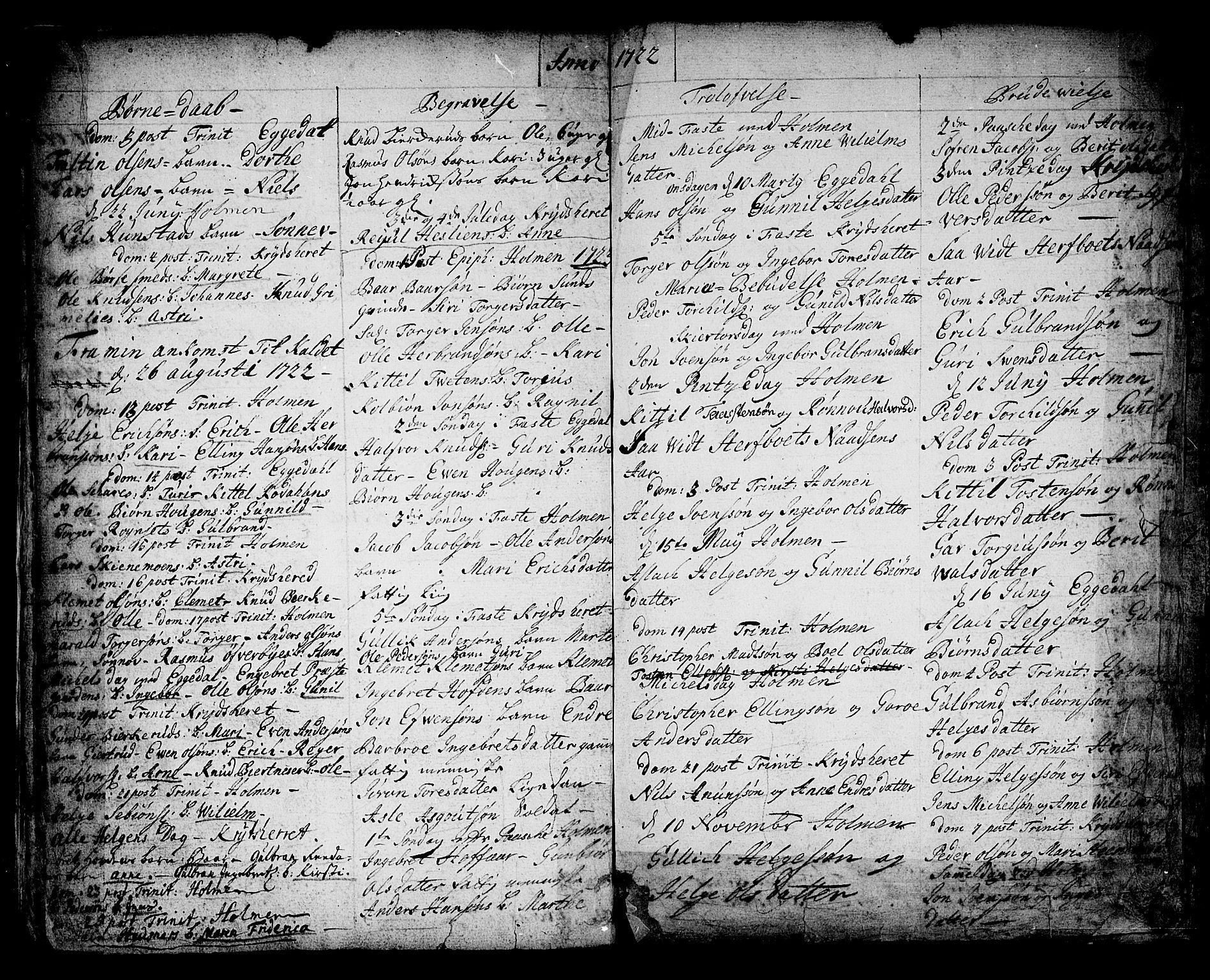 SAKO, Sigdal kirkebøker, F/Fa/L0001: Ministerialbok nr. I 1, 1722-1777, s. 5