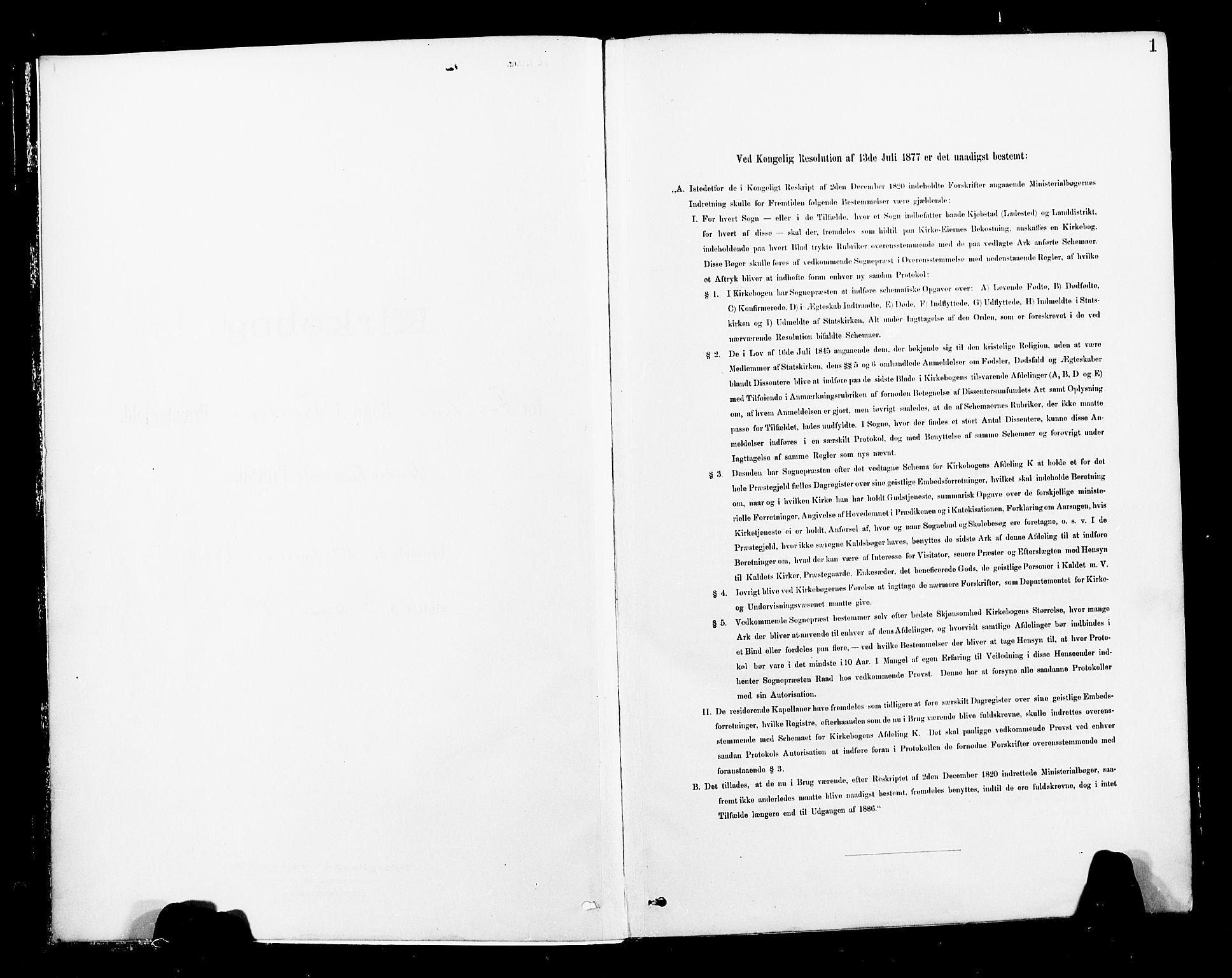 SAT, Ministerialprotokoller, klokkerbøker og fødselsregistre - Nord-Trøndelag, 713/L0121: Ministerialbok nr. 713A10, 1888-1898, s. 1