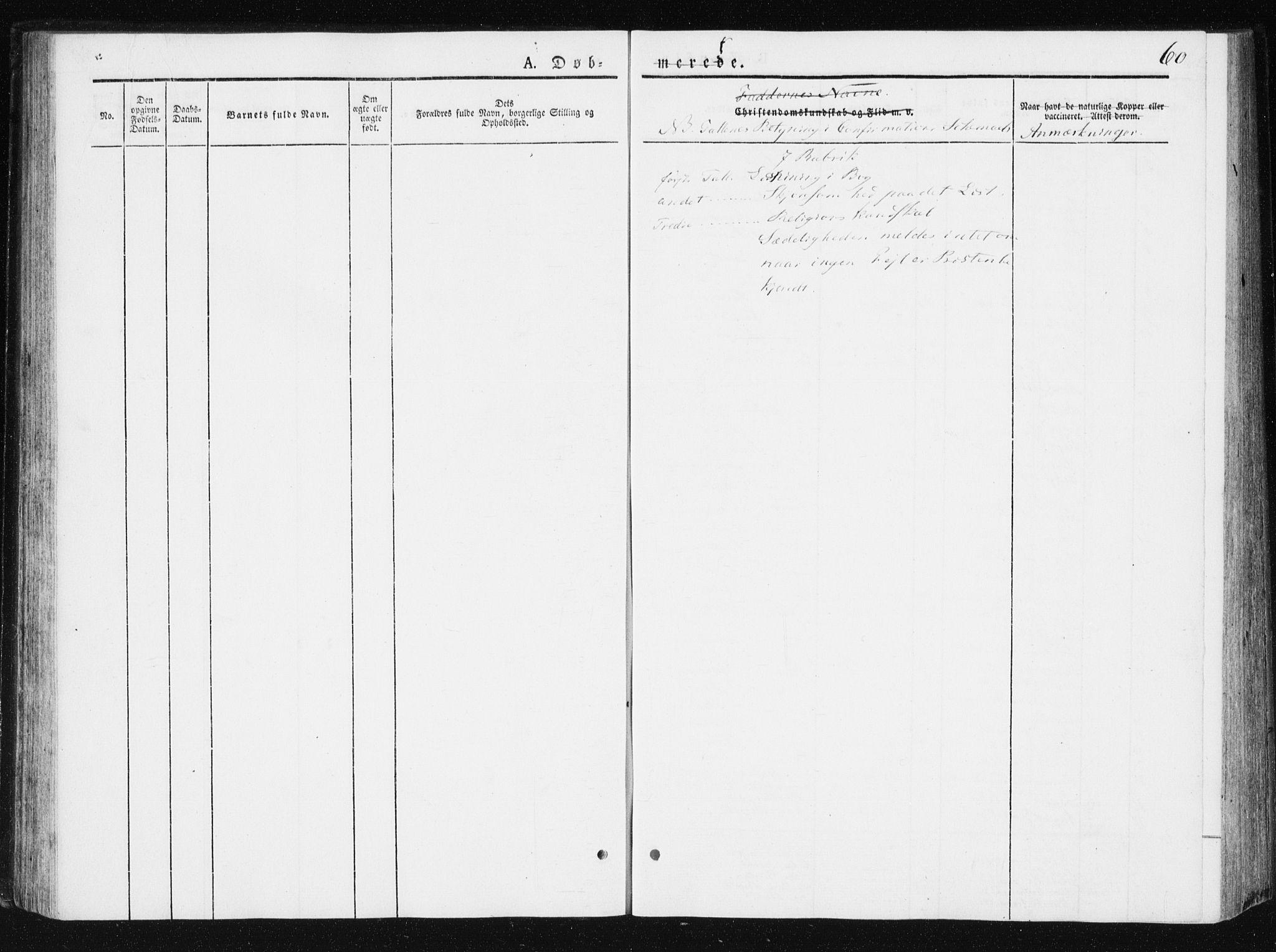 SAT, Ministerialprotokoller, klokkerbøker og fødselsregistre - Nord-Trøndelag, 749/L0470: Ministerialbok nr. 749A04, 1834-1853, s. 60