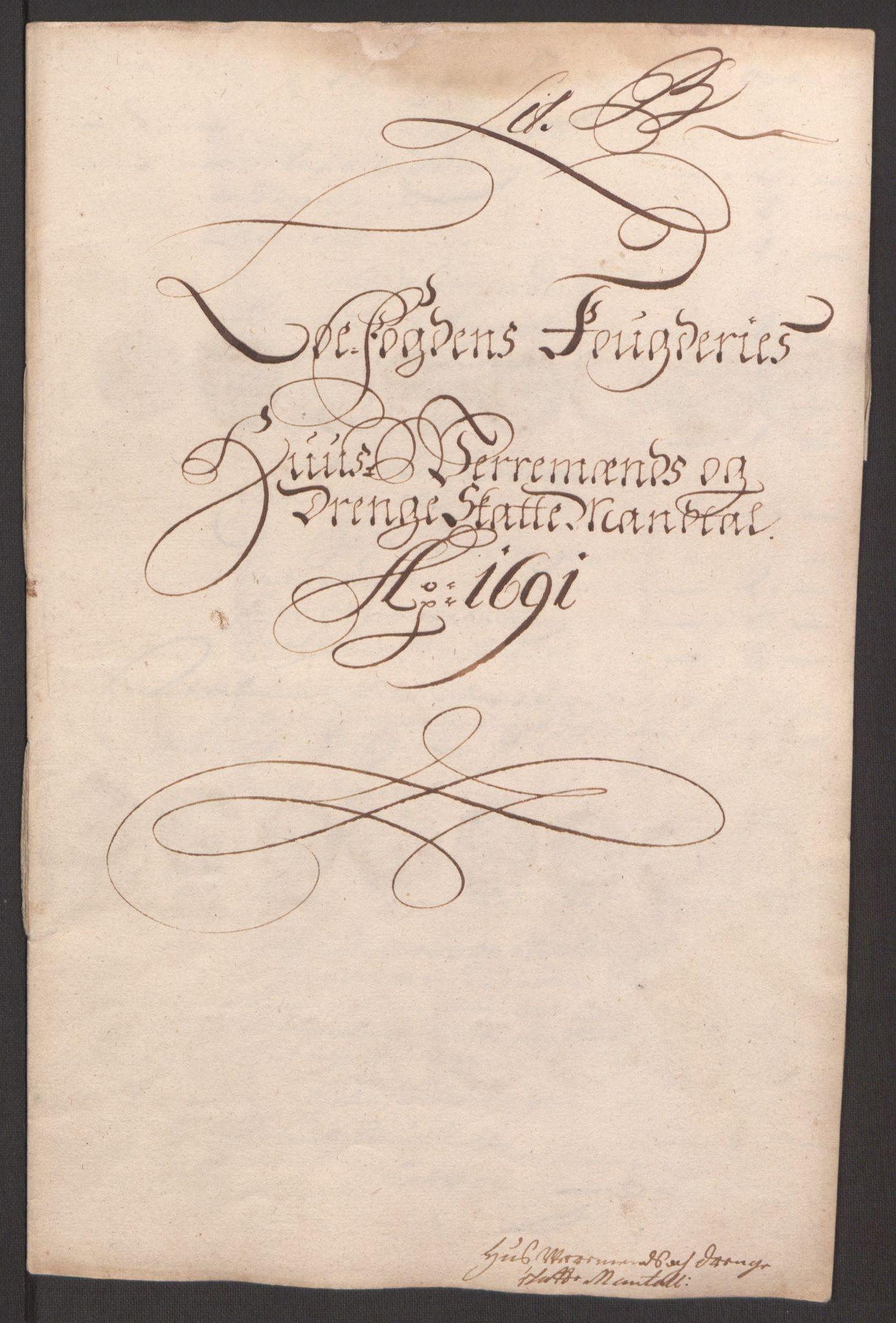 RA, Rentekammeret inntil 1814, Reviderte regnskaper, Fogderegnskap, R67/L4675: Fogderegnskap Vesterålen, Andenes og Lofoten, 1691-1693, s. 27