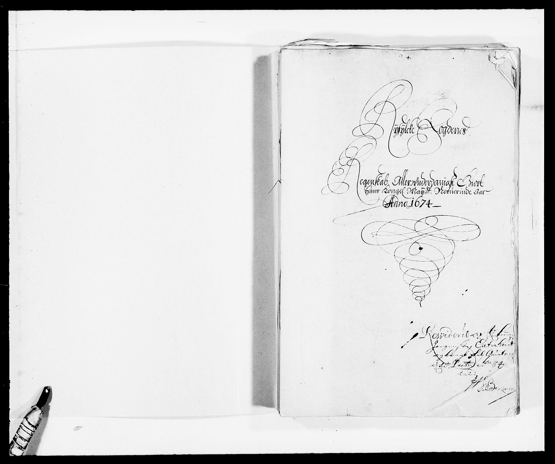 RA, Rentekammeret inntil 1814, Reviderte regnskaper, Fogderegnskap, R47/L2845: Fogderegnskap Ryfylke, 1674-1675, s. 2