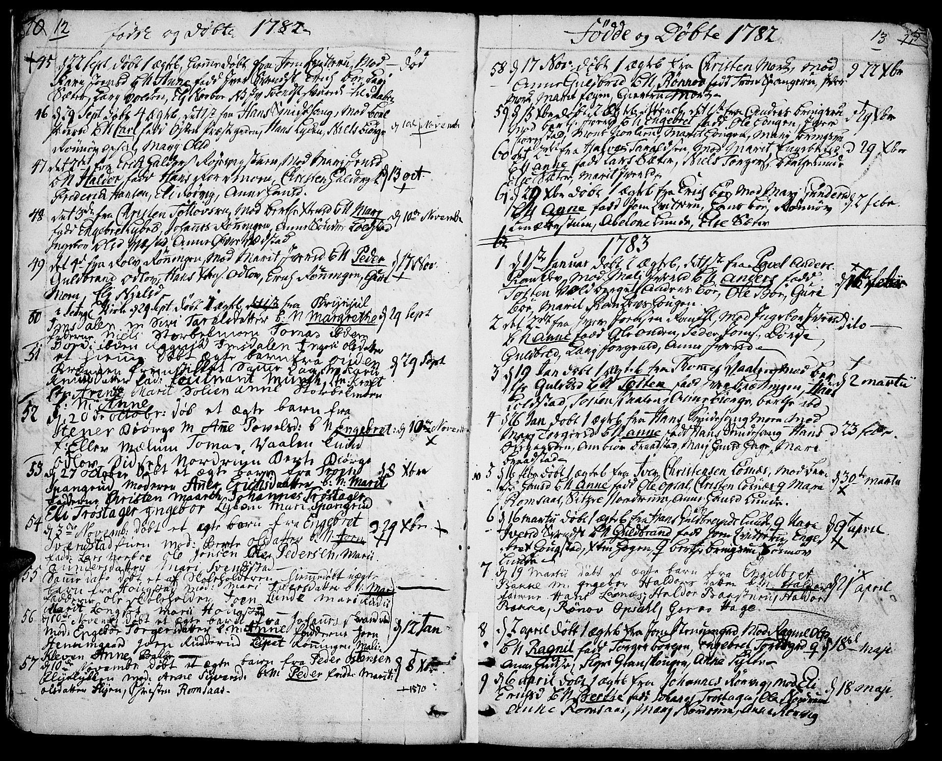 SAH, Ringebu prestekontor, Ministerialbok nr. 3, 1781-1820, s. 12-13