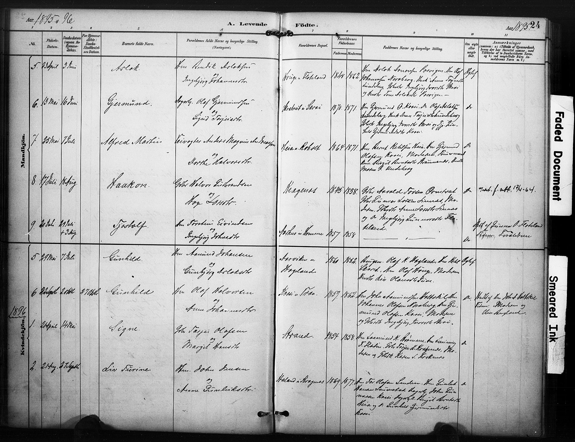 SAKO, Kviteseid kirkebøker, F/Fc/L0002: Ministerialbok nr. III 2, 1882-1908, s. 24