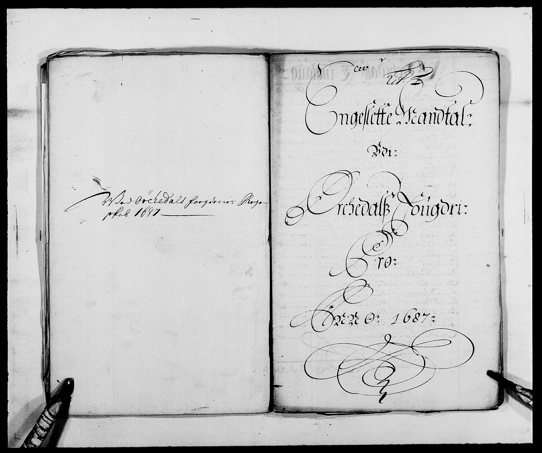 RA, Rentekammeret inntil 1814, Reviderte regnskaper, Fogderegnskap, R58/L3935: Fogderegnskap Orkdal, 1687-1688, s. 78