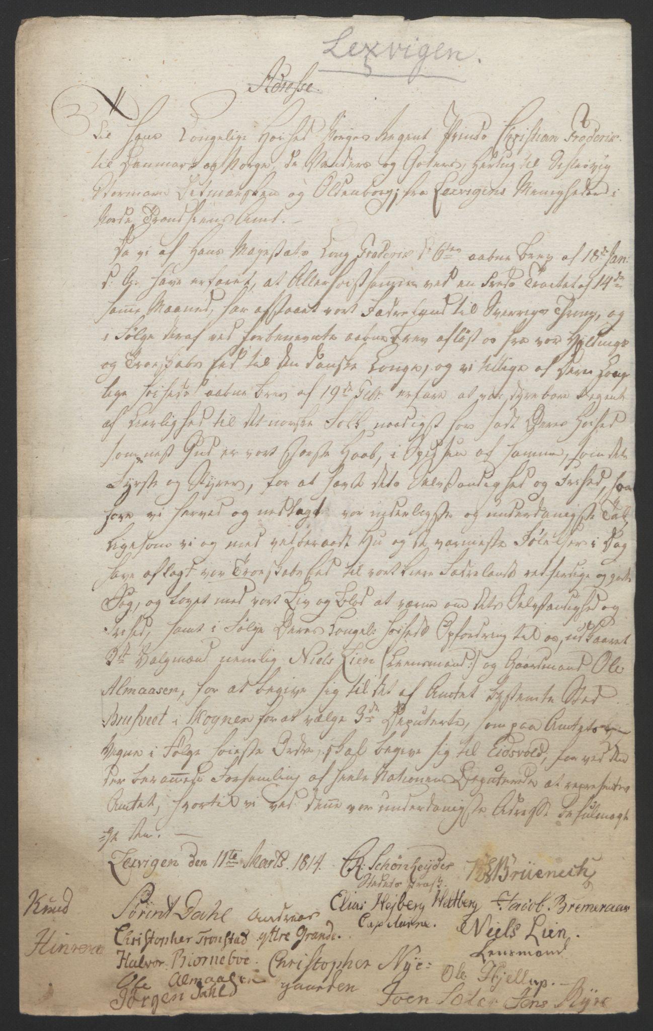 RA, Statsrådssekretariatet, D/Db/L0008: Fullmakter for Eidsvollsrepresentantene i 1814. , 1814, s. 471