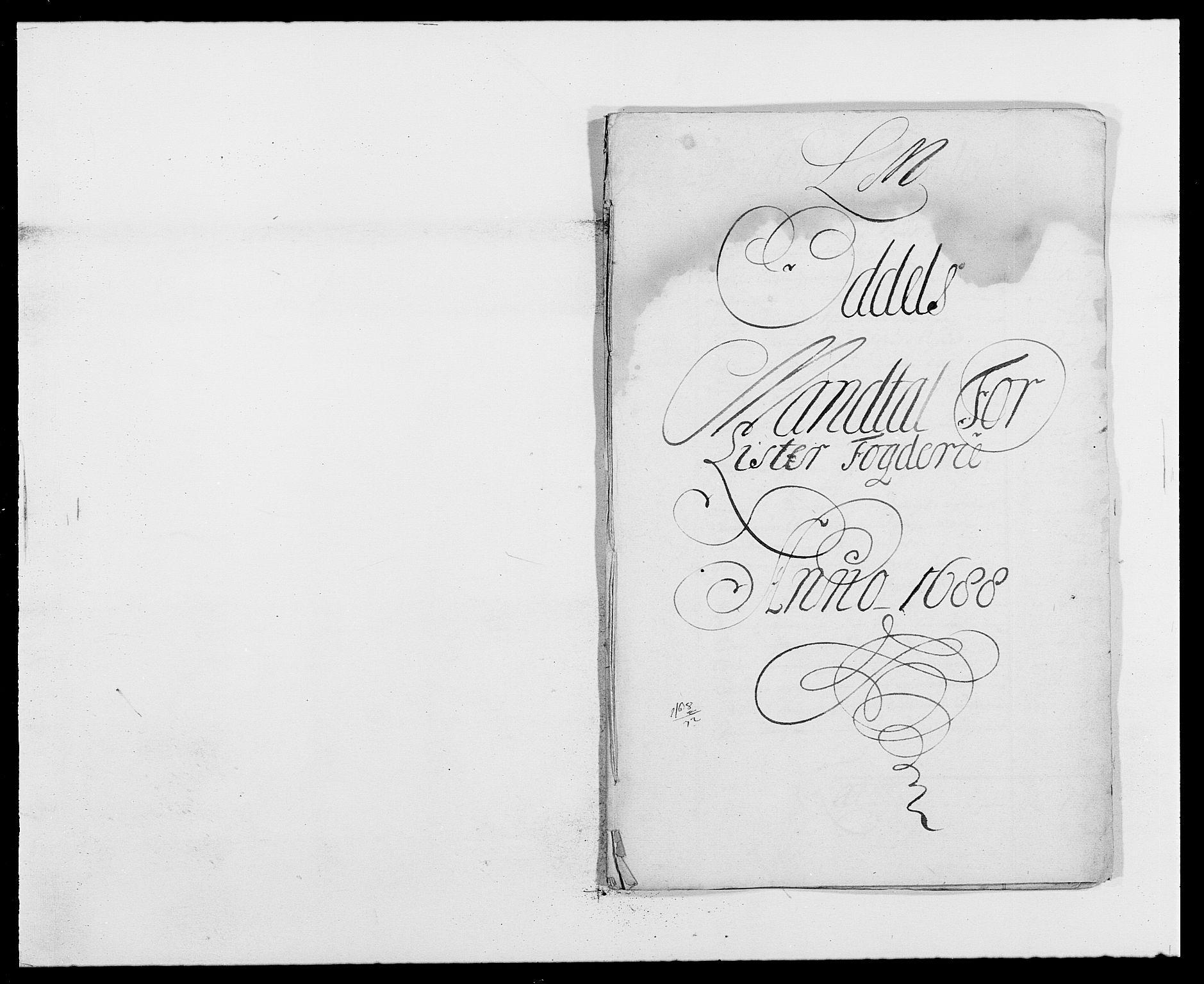 RA, Rentekammeret inntil 1814, Reviderte regnskaper, Fogderegnskap, R41/L2534: Fogderegnskap Lista, 1686-1688, s. 217