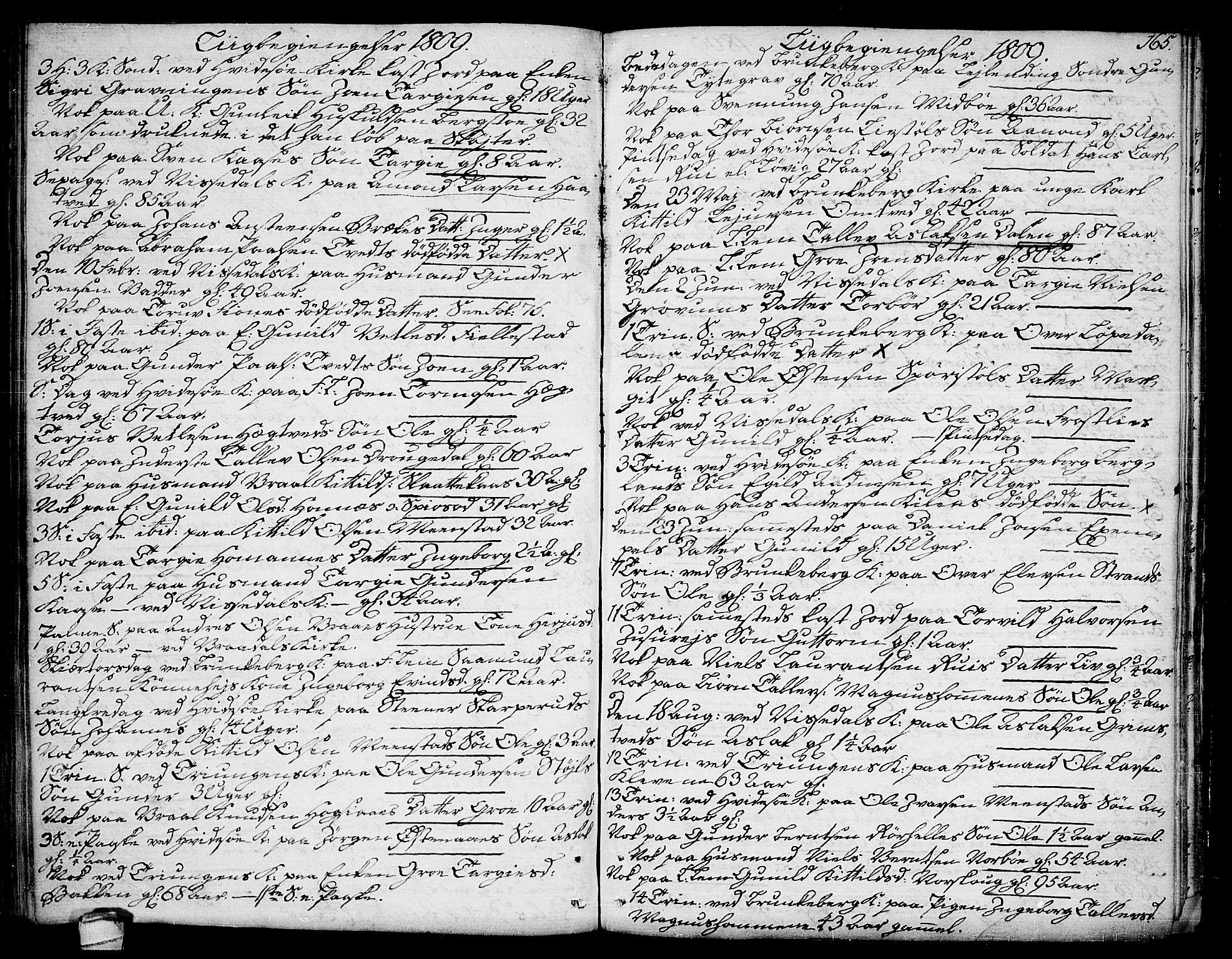 SAKO, Kviteseid kirkebøker, F/Fa/L0004: Ministerialbok nr. I 4, 1800-1814, s. 165