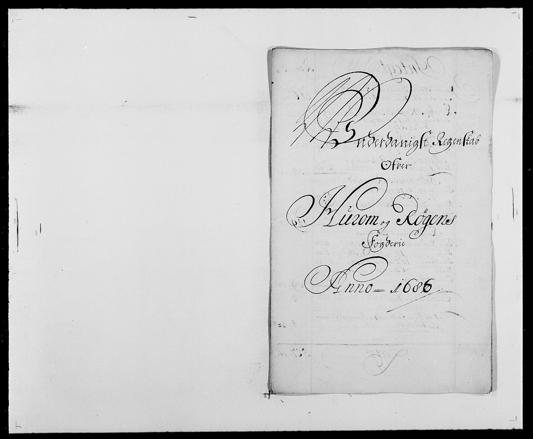 RA, Rentekammeret inntil 1814, Reviderte regnskaper, Fogderegnskap, R29/L1692: Fogderegnskap Hurum og Røyken, 1682-1687, s. 266
