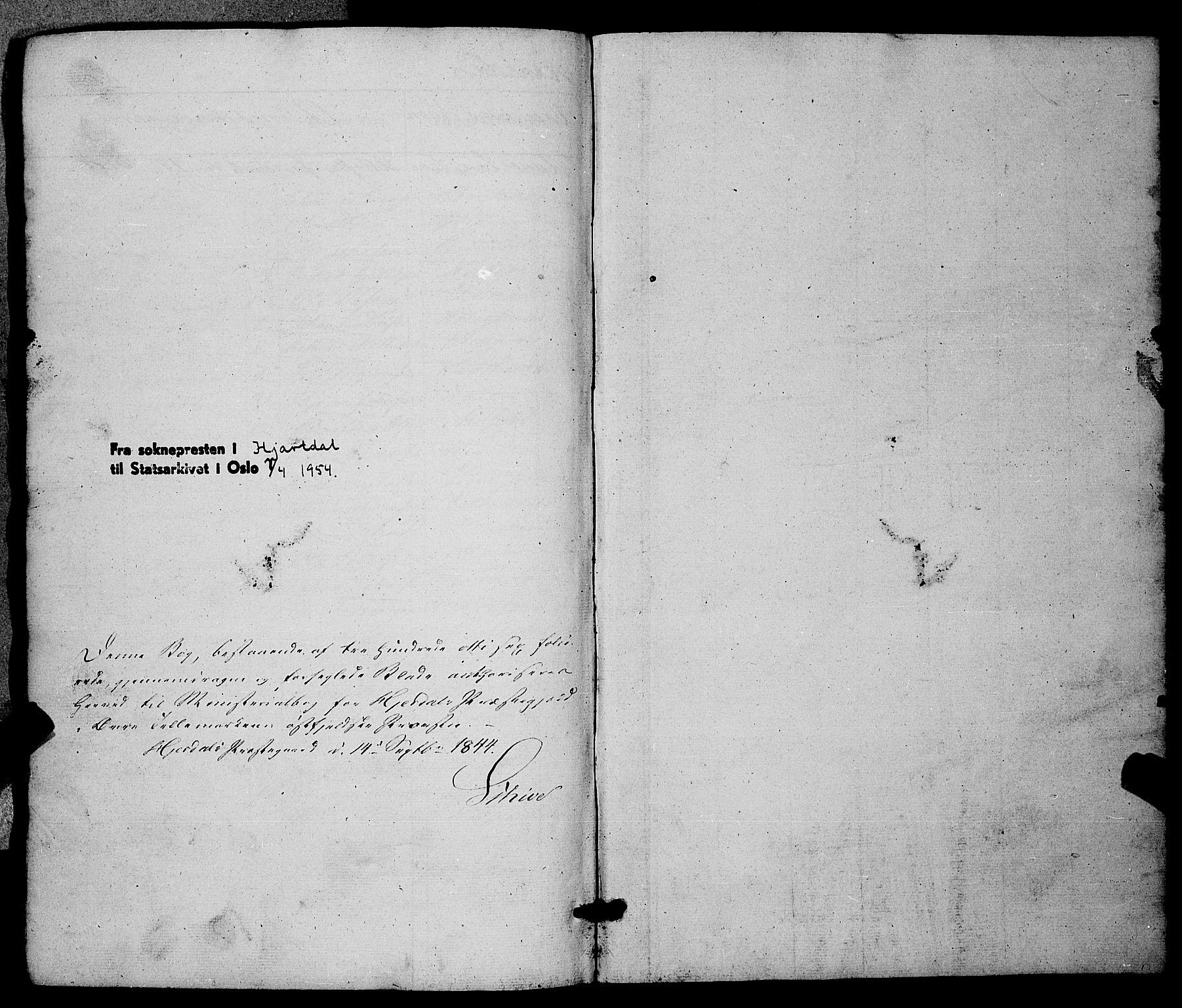 SAKO, Hjartdal kirkebøker, F/Fa/L0008: Ministerialbok nr. I 8, 1844-1859