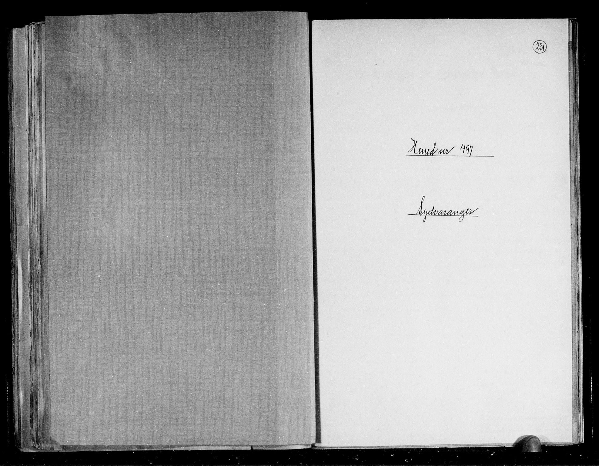 RA, Folketelling 1891 for 2030 Sør-Varanger herred, 1891, s. 1