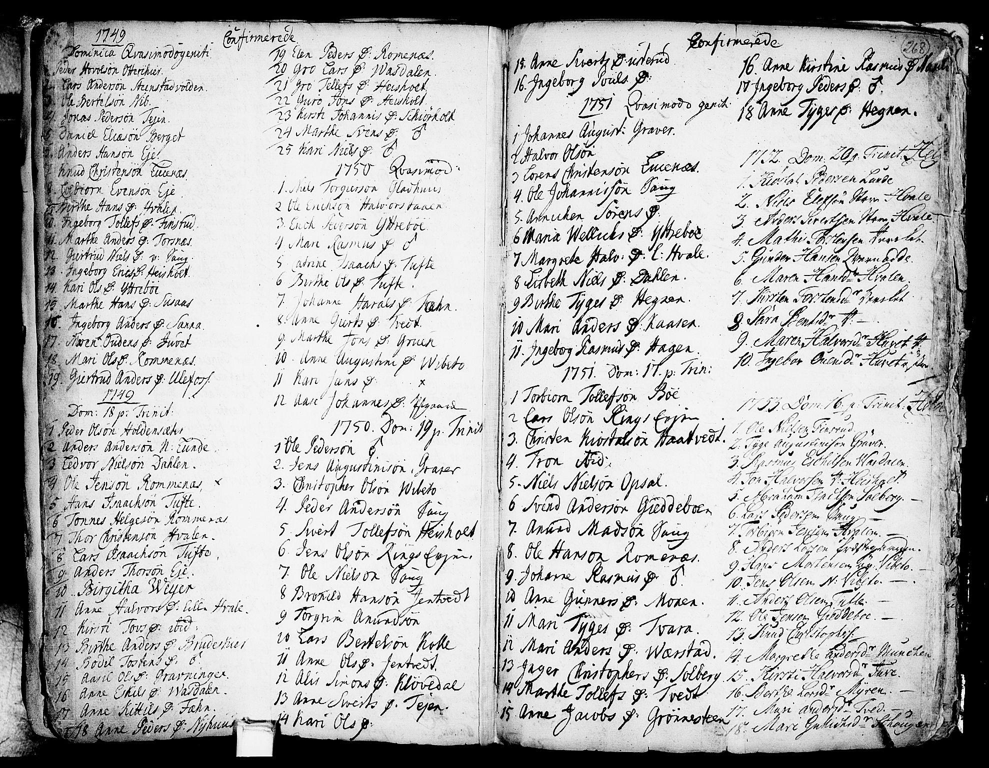 SAKO, Holla kirkebøker, F/Fa/L0001: Ministerialbok nr. 1, 1717-1779, s. 268