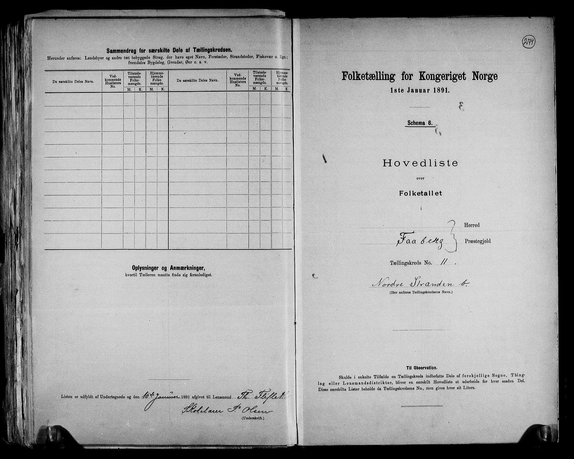 RA, Folketelling 1891 for 0524 Fåberg herred, 1891, s. 25