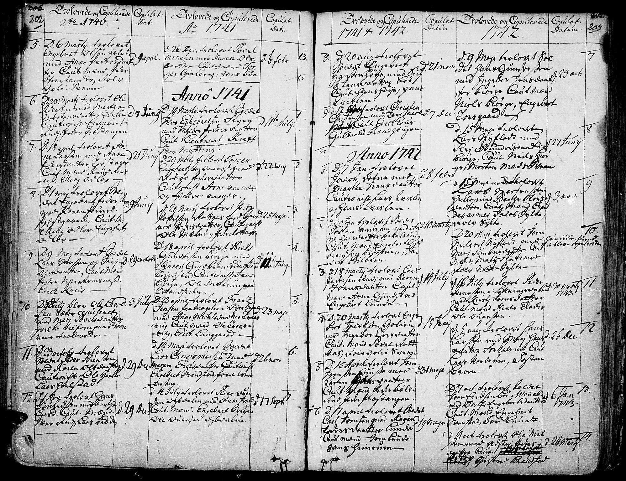 SAH, Ringebu prestekontor, Ministerialbok nr. 2, 1734-1780, s. 202-203
