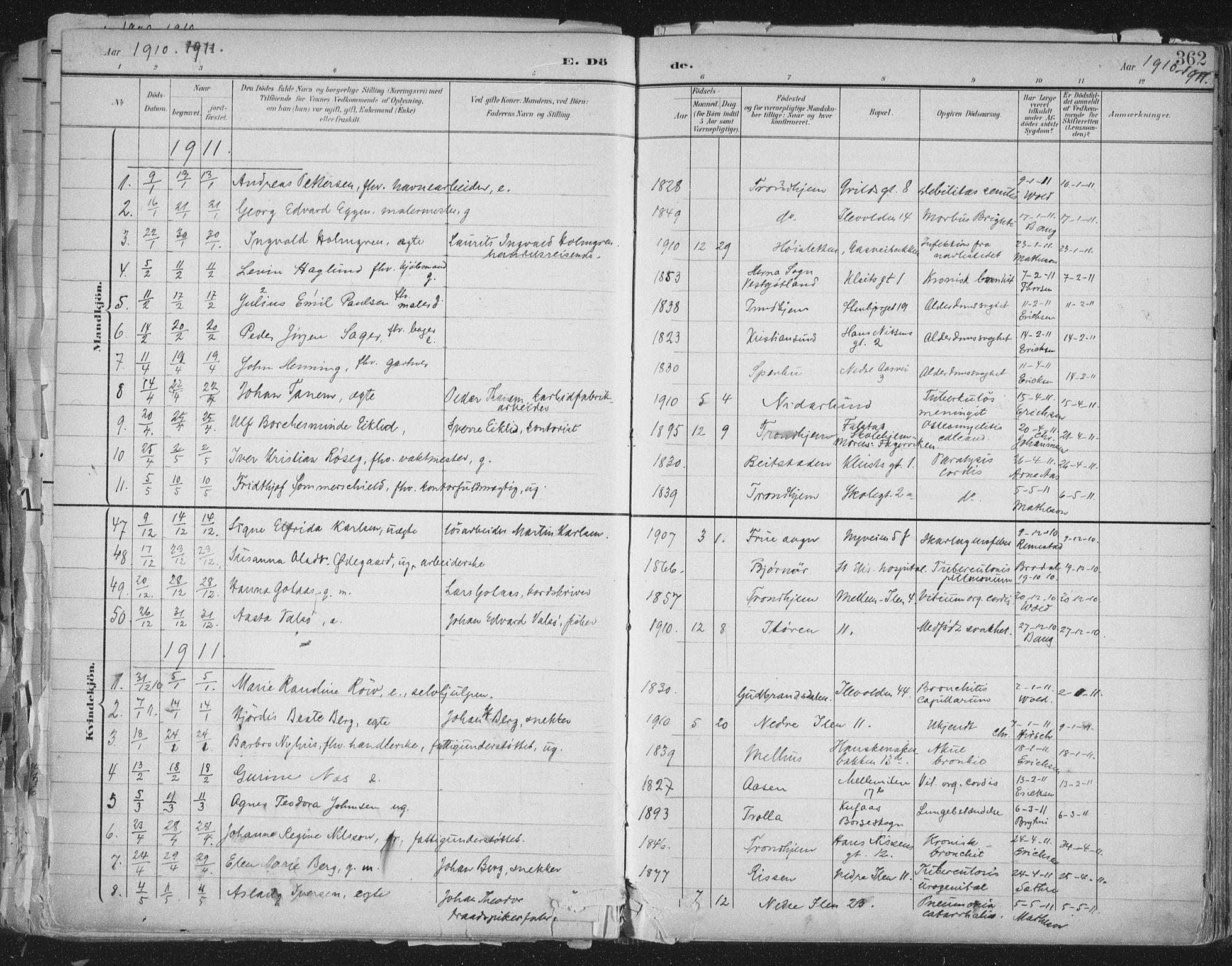 SAT, Ministerialprotokoller, klokkerbøker og fødselsregistre - Sør-Trøndelag, 603/L0167: Ministerialbok nr. 603A06, 1896-1932, s. 362