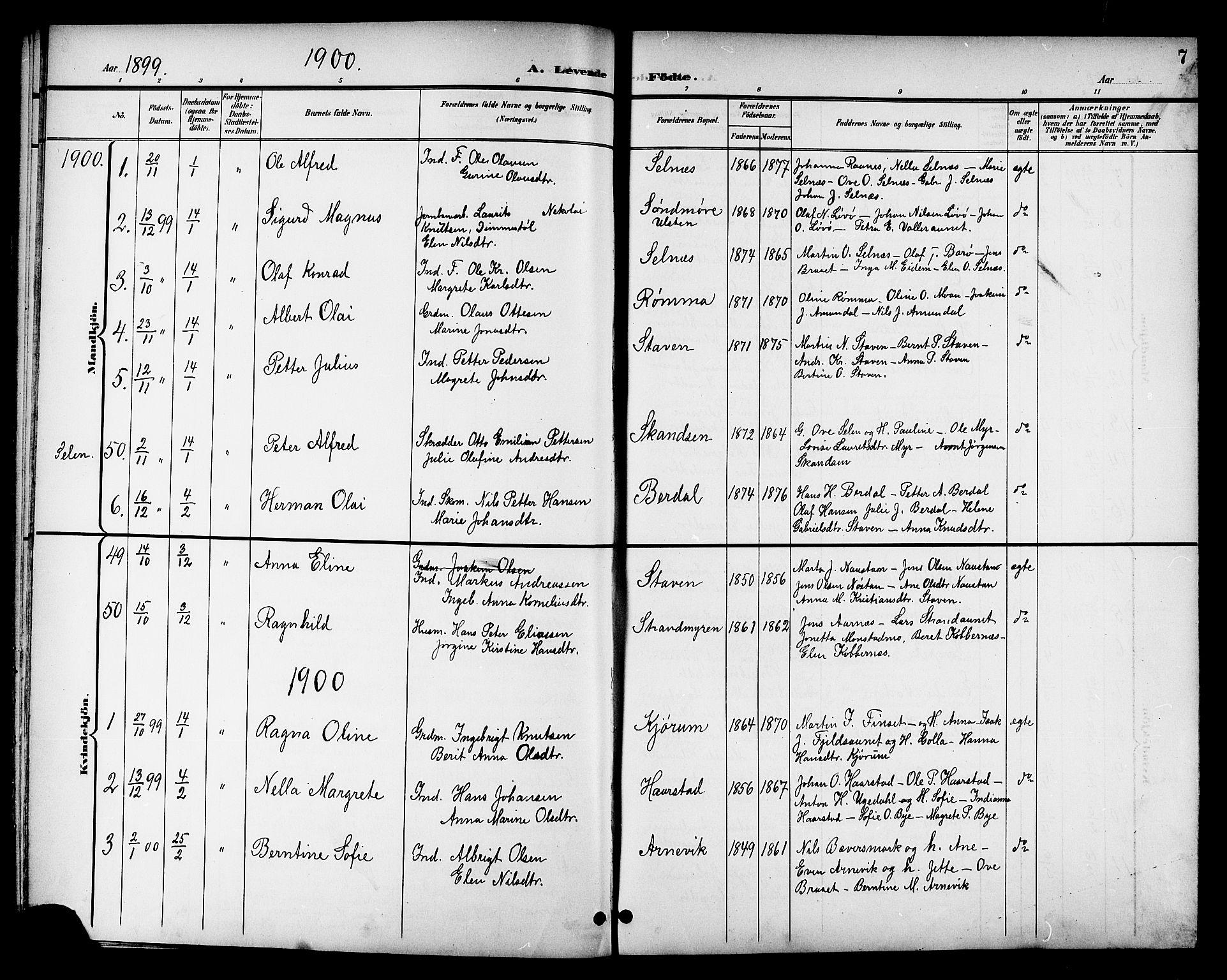 SAT, Ministerialprotokoller, klokkerbøker og fødselsregistre - Sør-Trøndelag, 655/L0688: Klokkerbok nr. 655C04, 1899-1922, s. 7