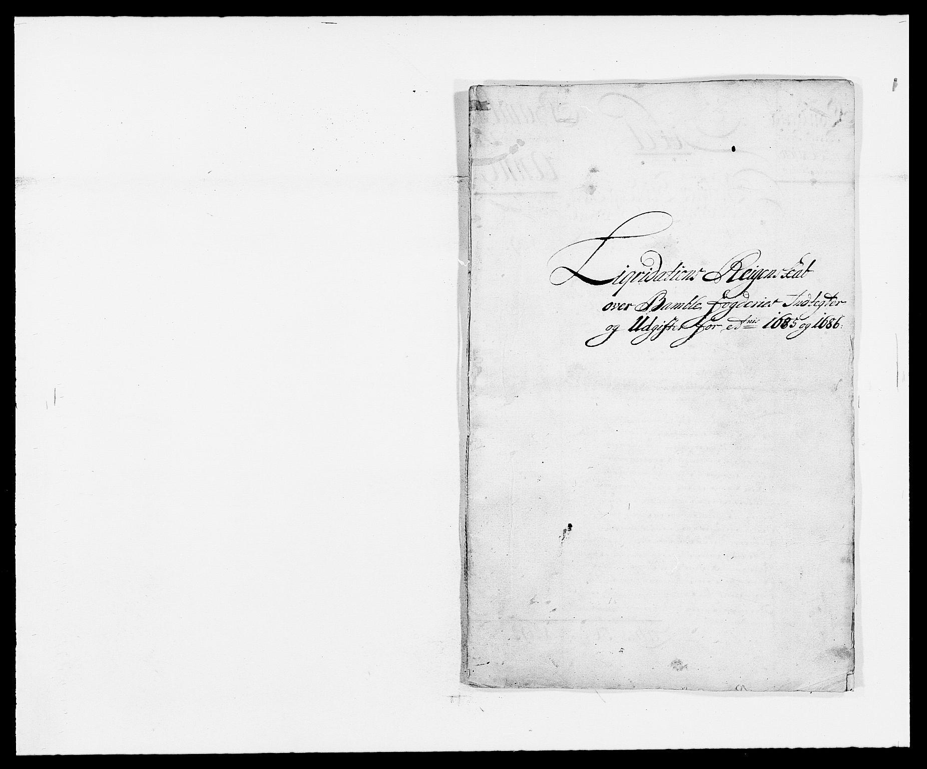 RA, Rentekammeret inntil 1814, Reviderte regnskaper, Fogderegnskap, R34/L2048: Fogderegnskap Bamble, 1685-1687, s. 23