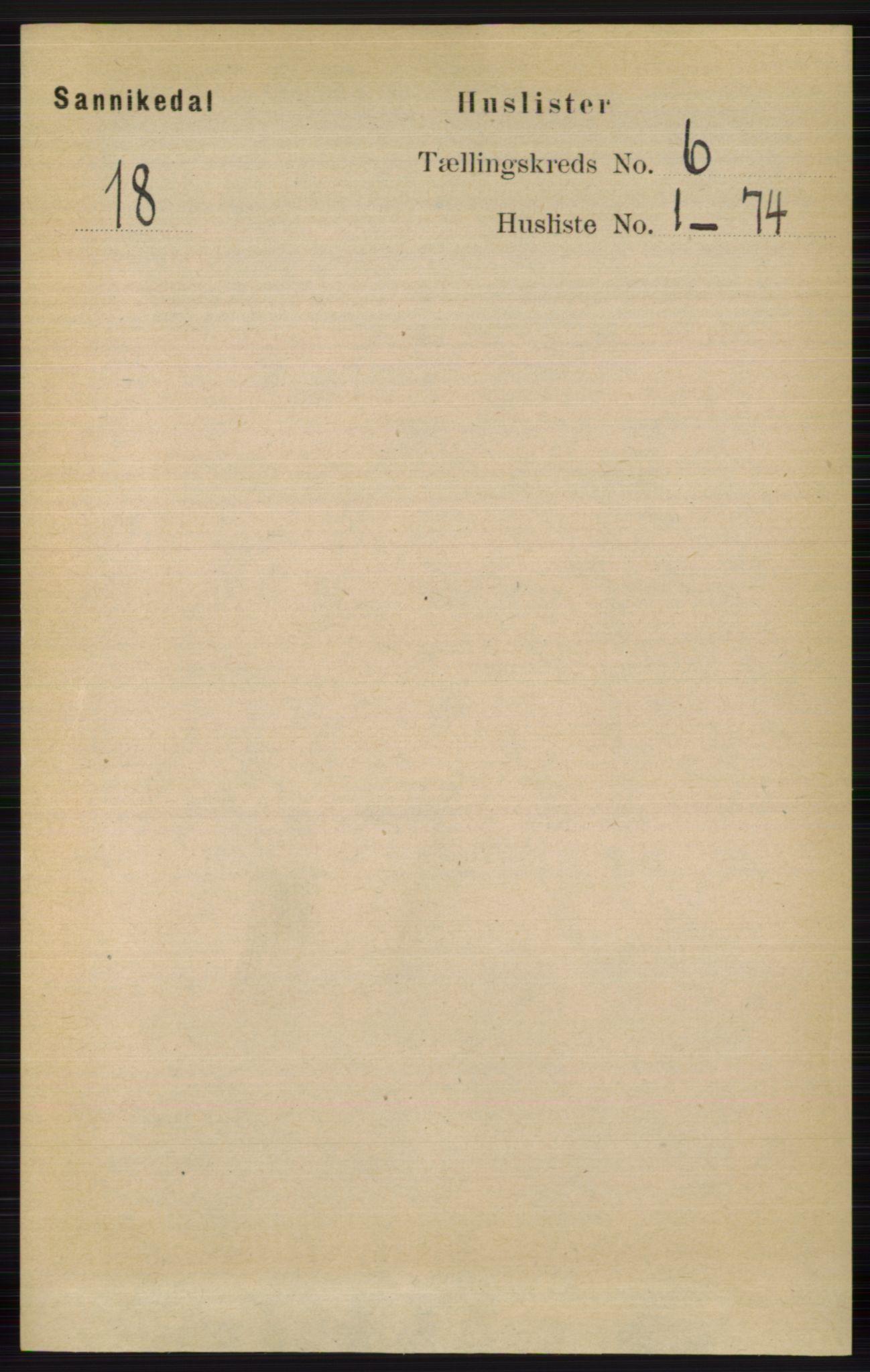 RA, Folketelling 1891 for 0816 Sannidal herred, 1891, s. 2475
