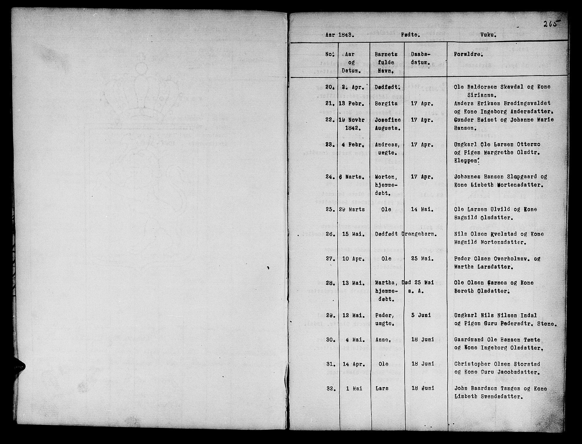SAT, Ministerialprotokoller, klokkerbøker og fødselsregistre - Nord-Trøndelag, 724/L0265: Klokkerbok nr. 724C01, 1816-1845, s. 265