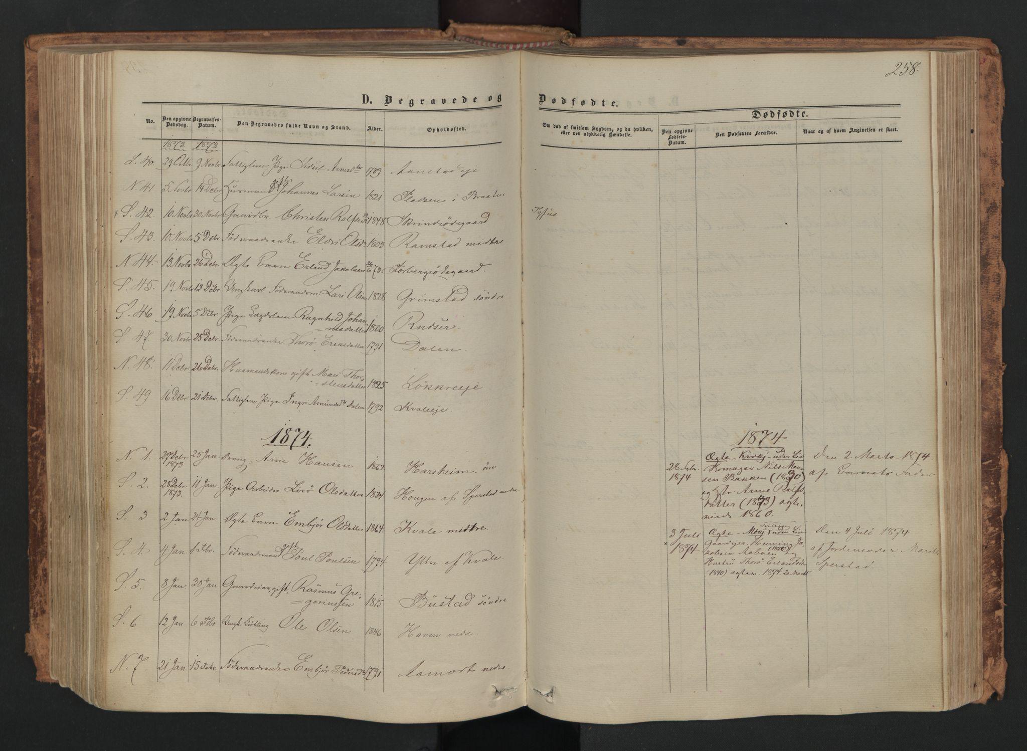 SAH, Skjåk prestekontor, Ministerialbok nr. 1, 1863-1879, s. 258