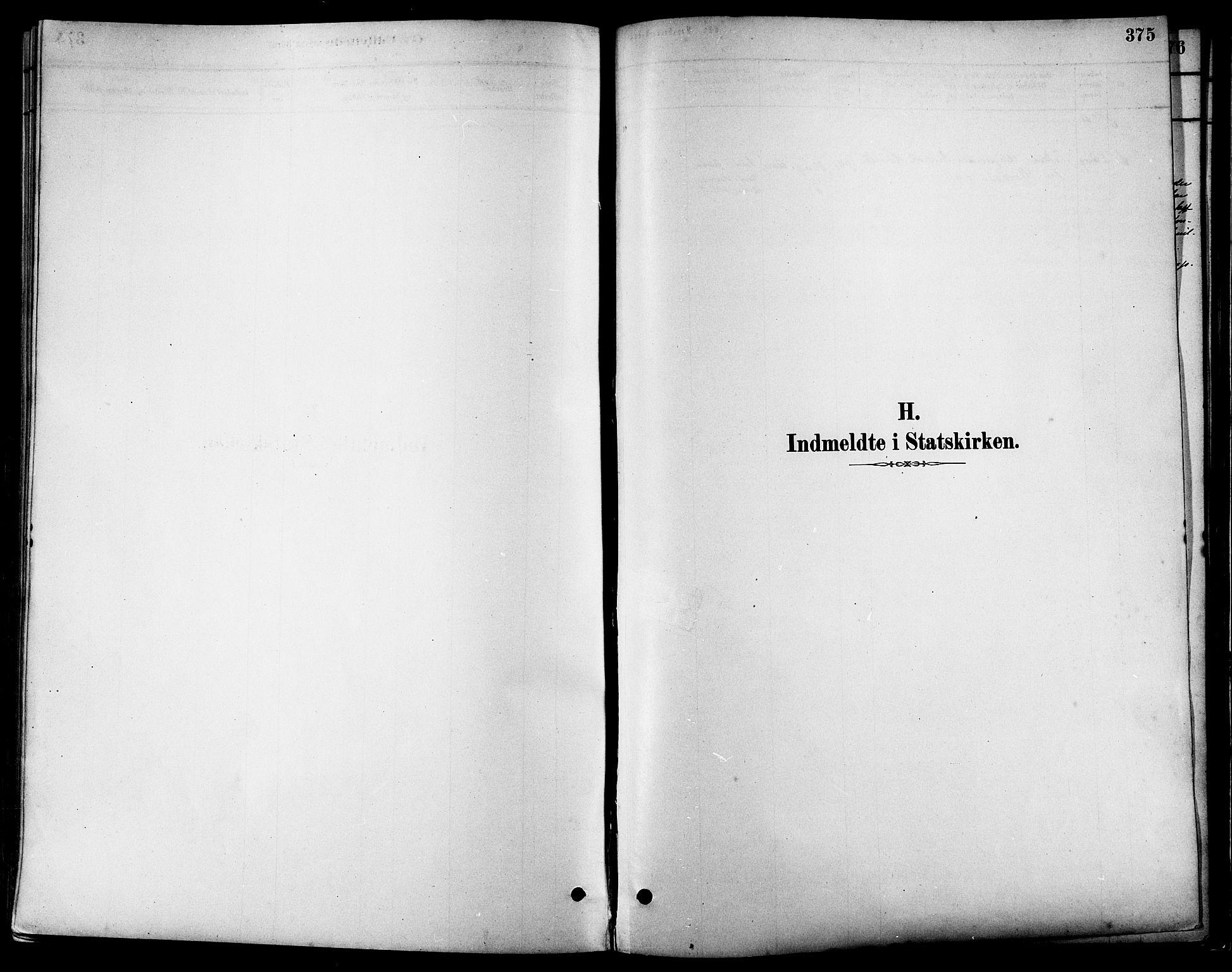 SAT, Ministerialprotokoller, klokkerbøker og fødselsregistre - Sør-Trøndelag, 630/L0496: Ministerialbok nr. 630A09, 1879-1895, s. 375