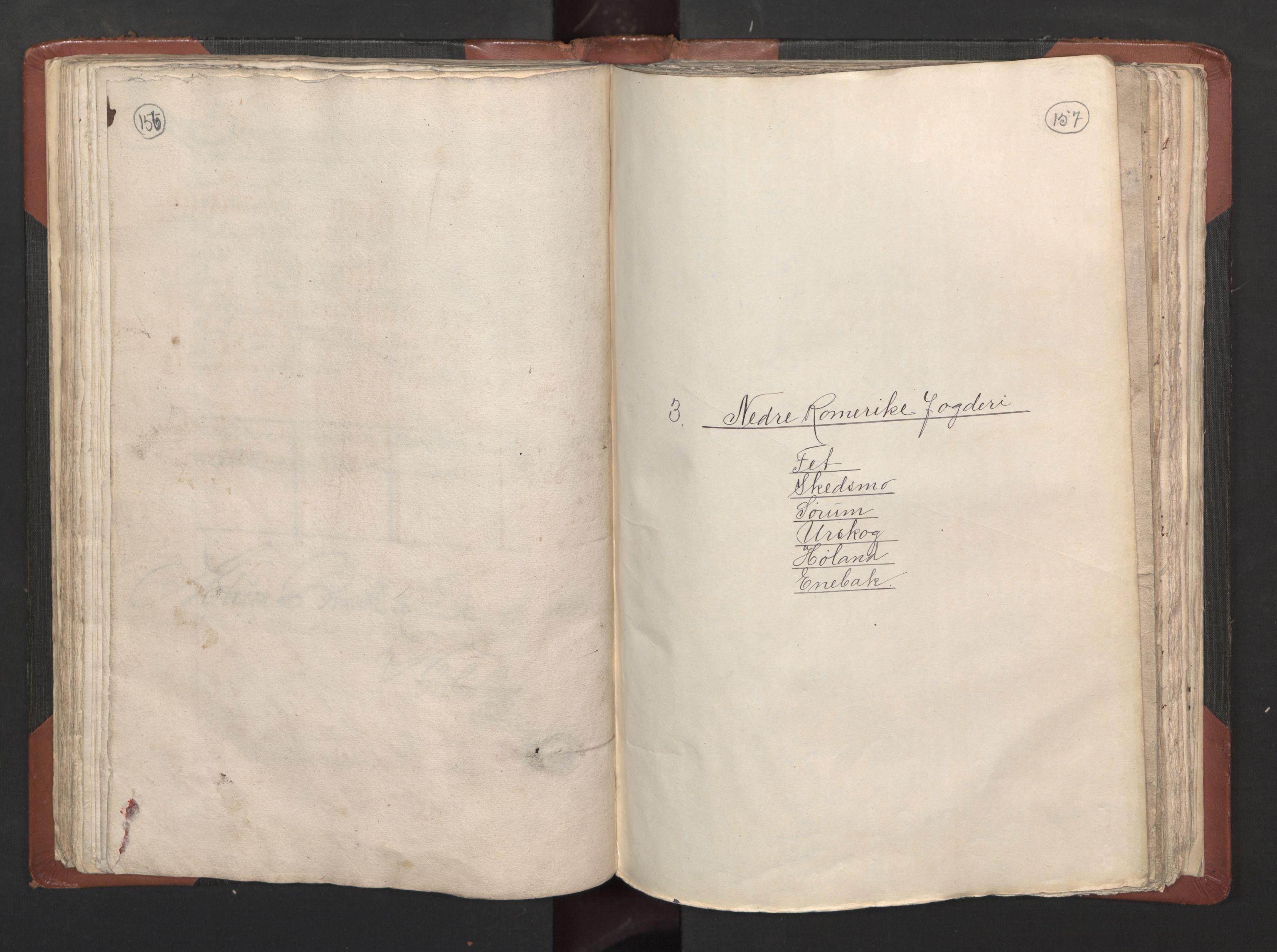 RA, Fogdenes og sorenskrivernes manntall 1664-1666, nr. 2: Aker fogderi, Follo fogderi, Nedre Romerike fogderi og Øvre Romerike fogderi, 1664, s. 156-157