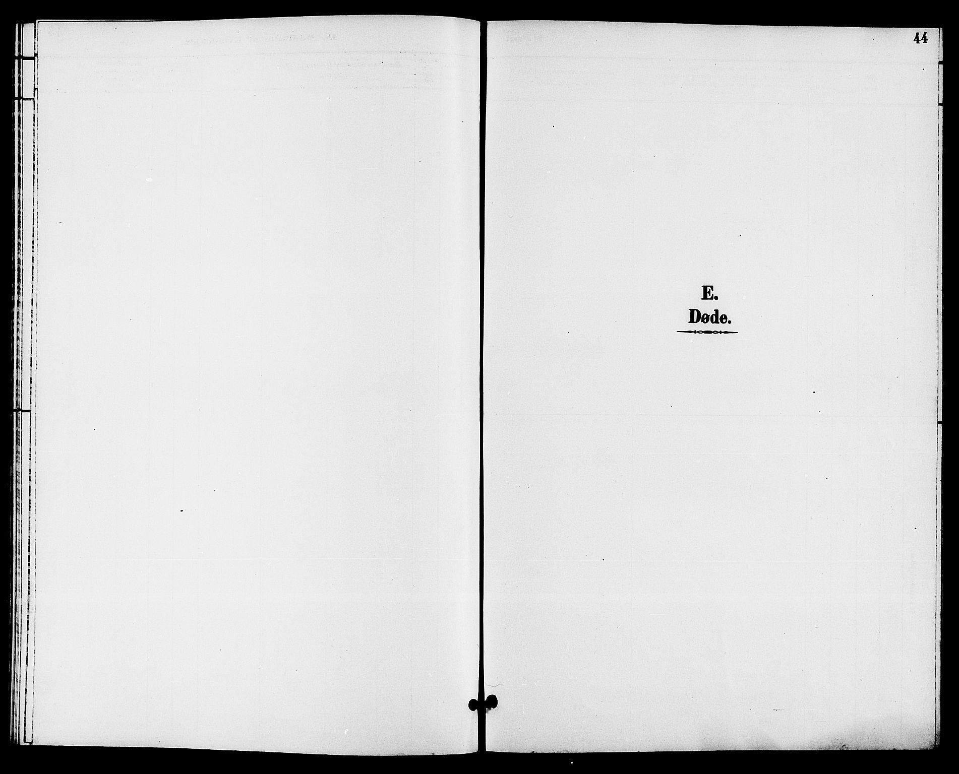 SAKO, Hjartdal kirkebøker, G/Gc/L0003: Klokkerbok nr. III 3, 1890-1907, s. 44