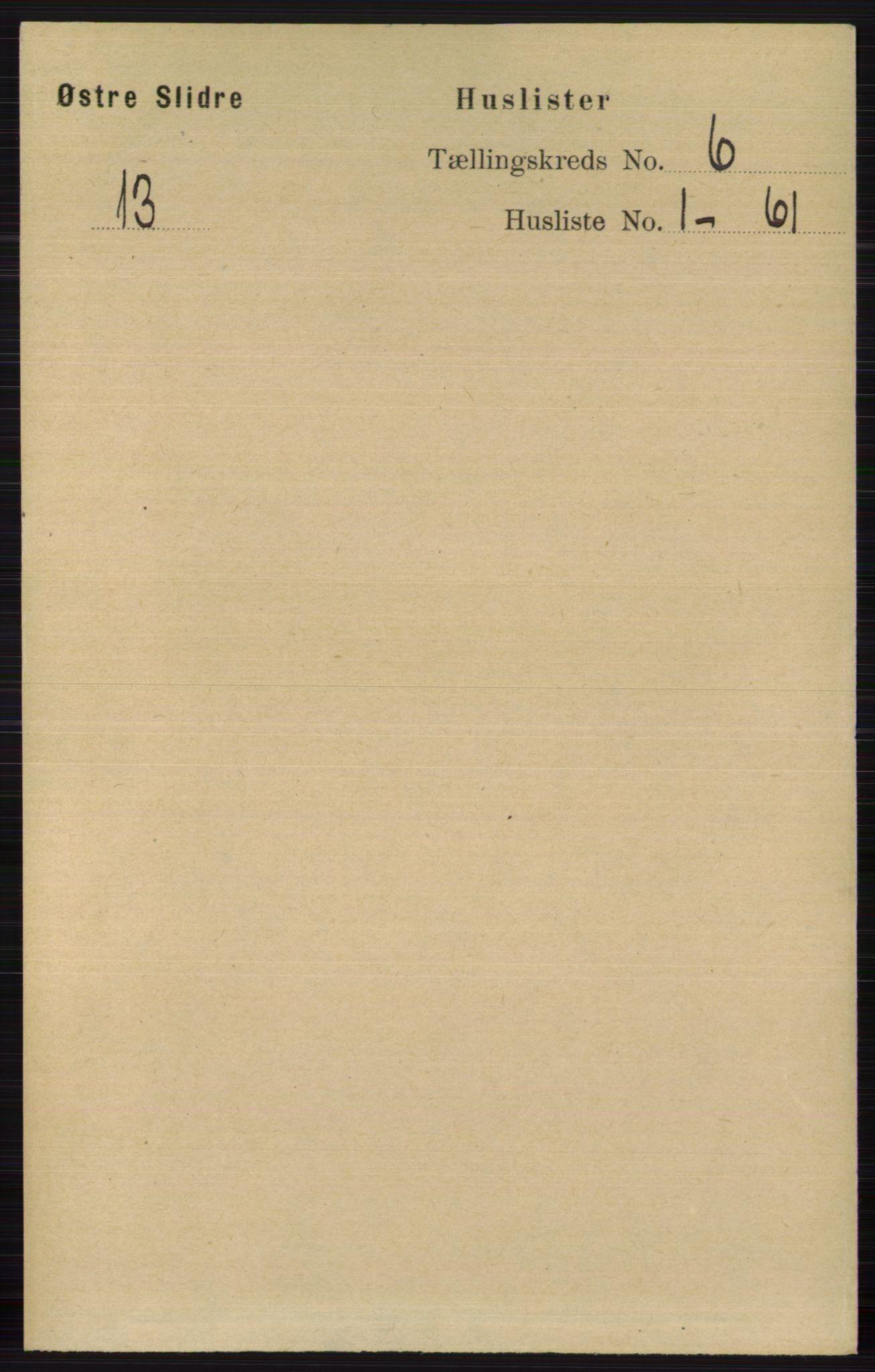 RA, Folketelling 1891 for 0544 Øystre Slidre herred, 1891, s. 1735