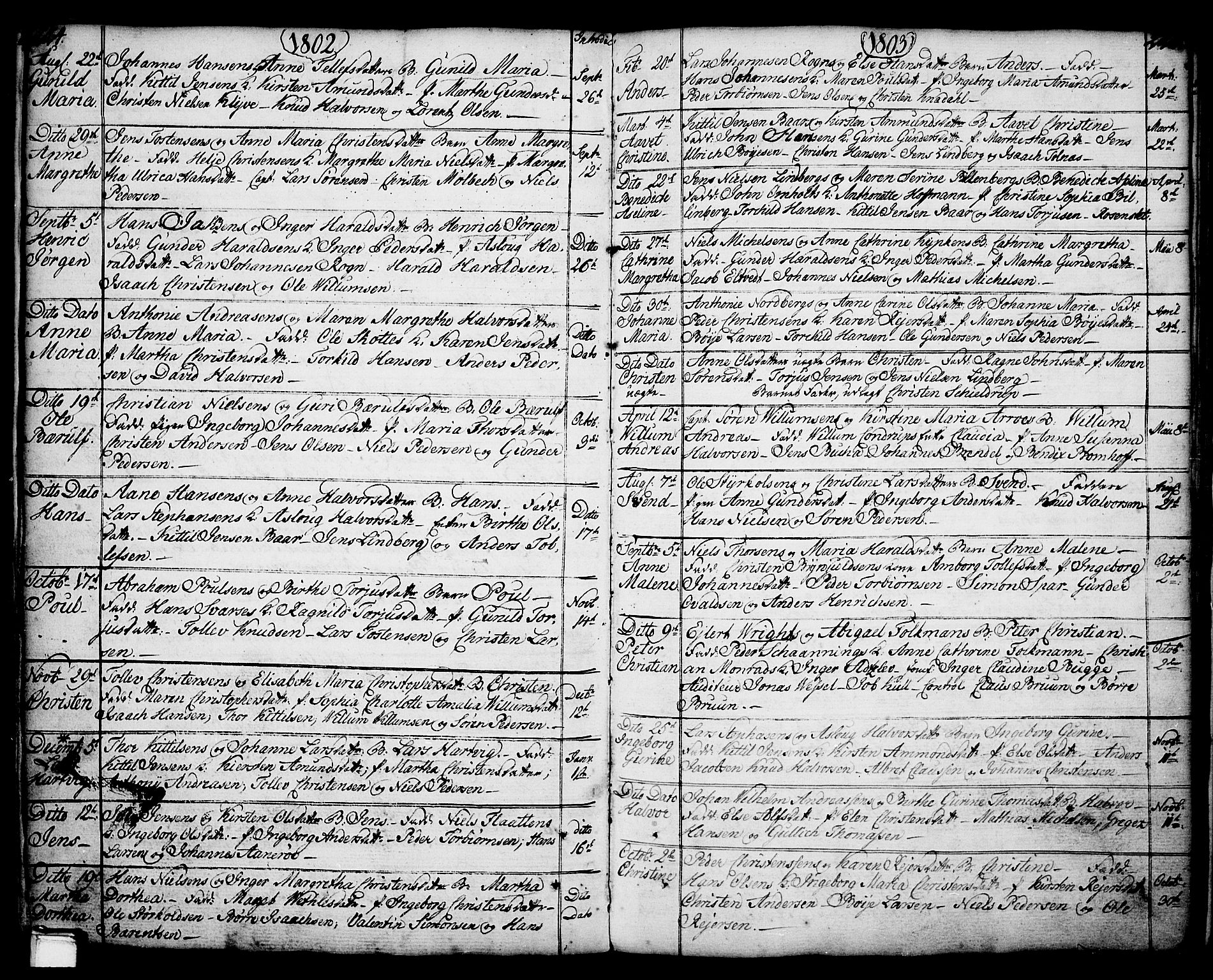 SAKO, Porsgrunn kirkebøker , F/Fa/L0001: Ministerialbok nr. 1, 1764-1814, s. 224-225
