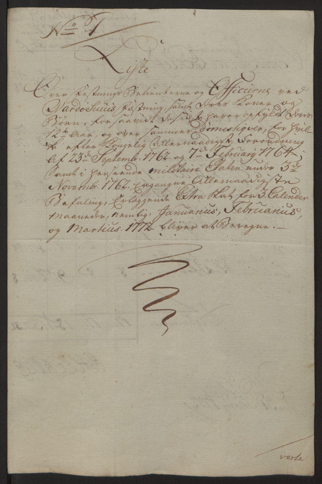 RA, Rentekammeret inntil 1814, Reviderte regnskaper, Fogderegnskap, R69/L4910: Ekstraskatten  Finnmark/Vardøhus, 1762-1772, s. 454