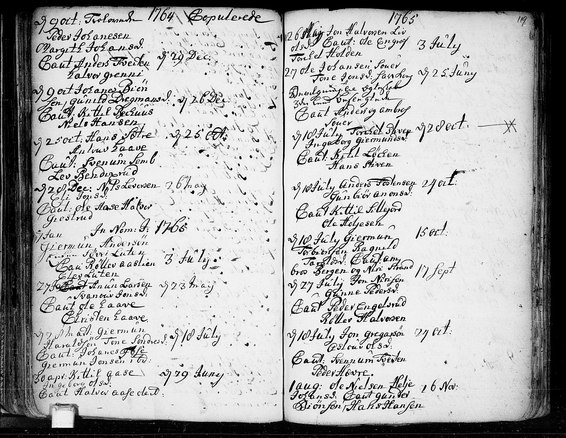 SAKO, Heddal kirkebøker, F/Fa/L0003: Ministerialbok nr. I 3, 1723-1783, s. 119