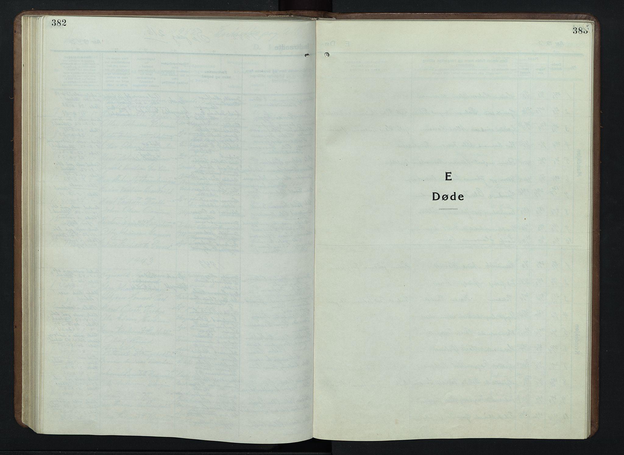 SAH, Nord-Fron prestekontor, Klokkerbok nr. 7, 1915-1946, s. 382-383
