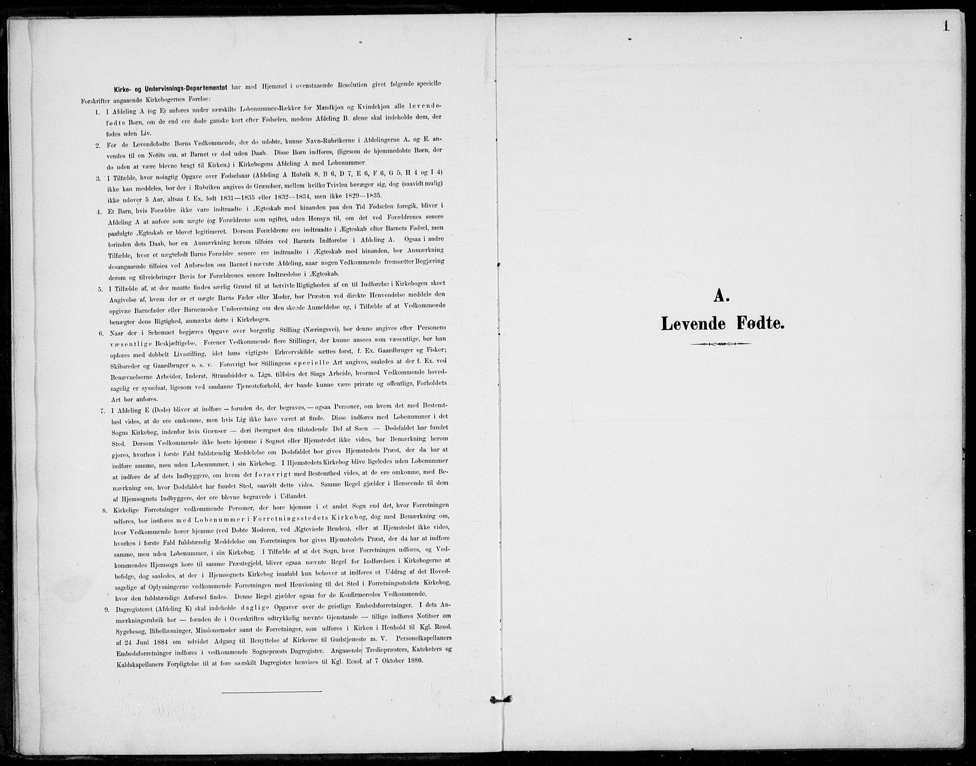 SAKO, Siljan kirkebøker, F/Fa/L0003: Ministerialbok nr. 3, 1896-1910, s. 1