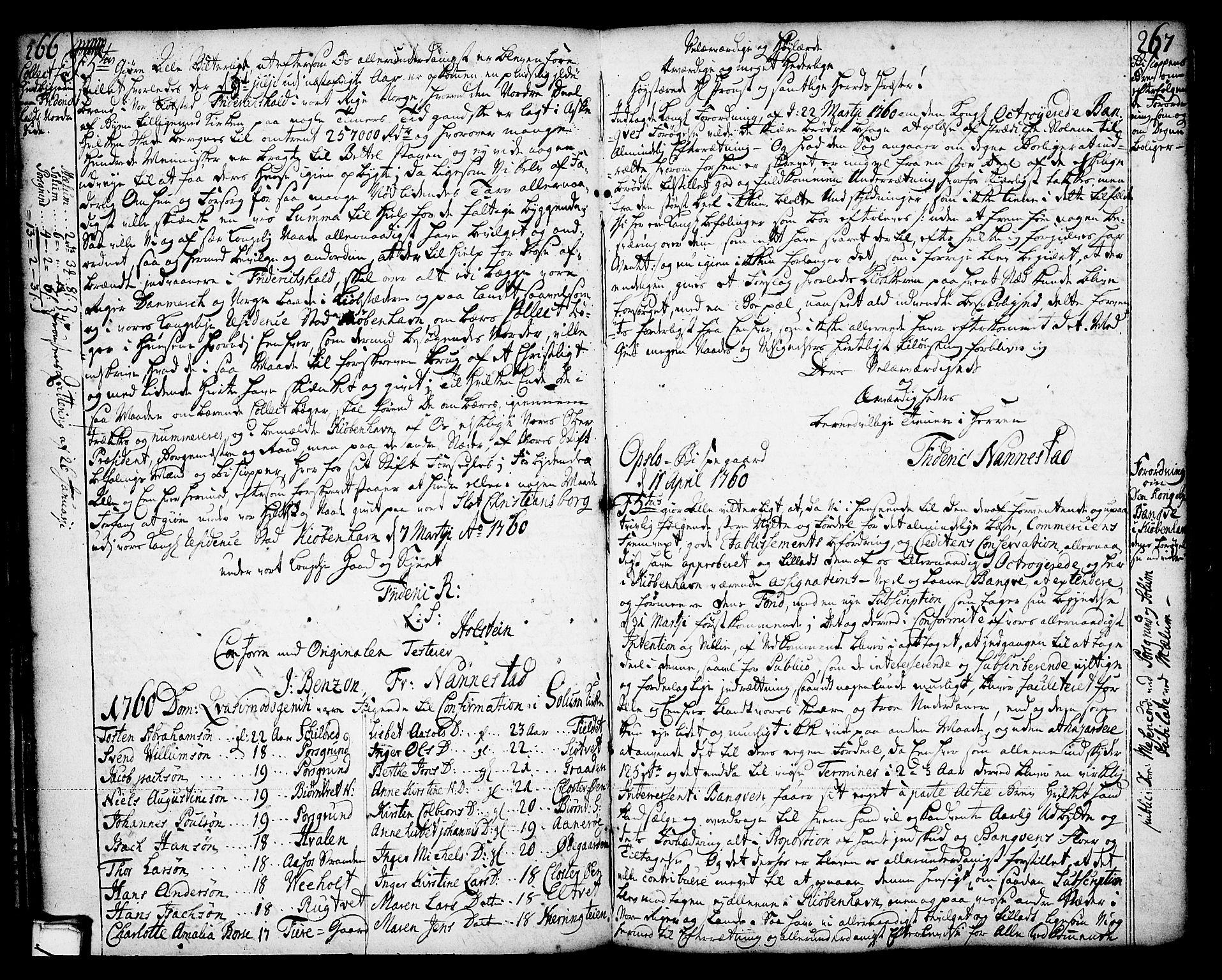SAKO, Solum kirkebøker, Annen kirkebok nr. ?, 1743-1791, s. 266-267