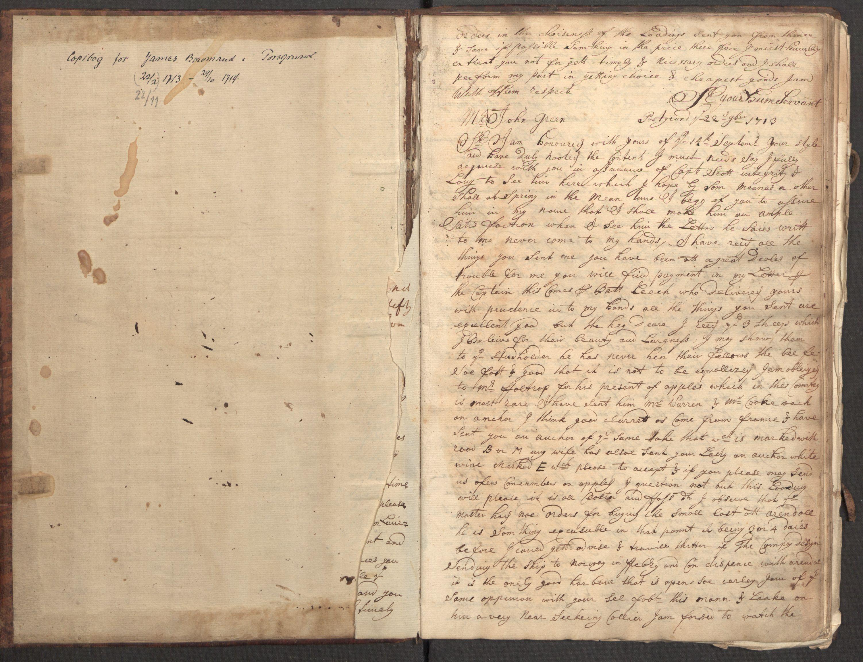 RA, Bowman, James, B/L0001, 1713-1714, s. 3