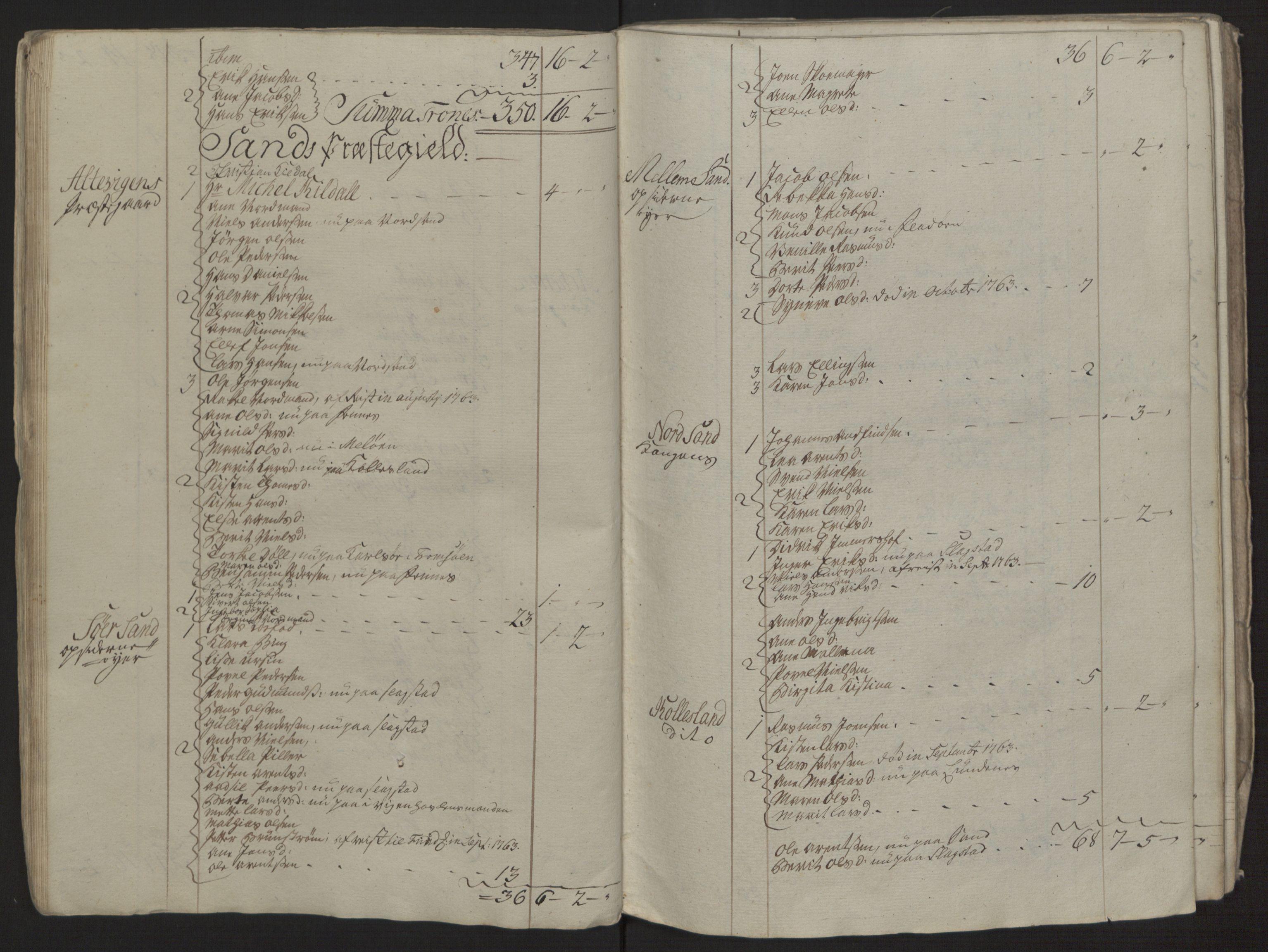 RA, Rentekammeret inntil 1814, Reviderte regnskaper, Fogderegnskap, R68/L4845: Ekstraskatten Senja og Troms, 1762-1765, s. 280
