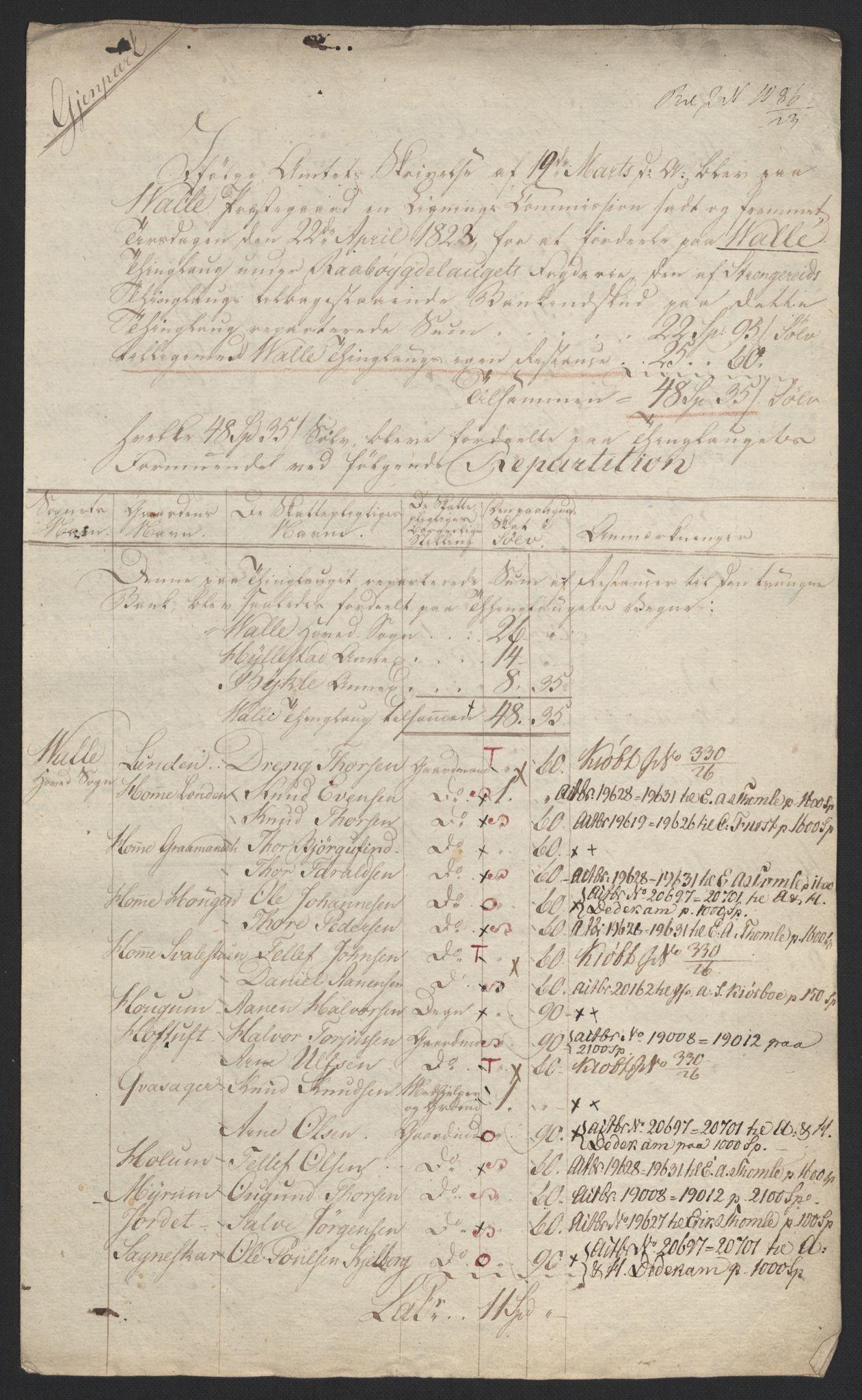NOBA, Norges Bank/Sølvskatten 1816*, 1816-1823, s. 44